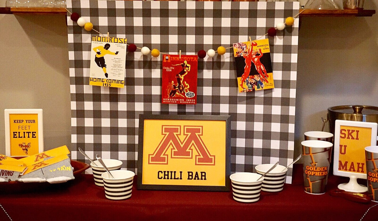 College game day chili bar