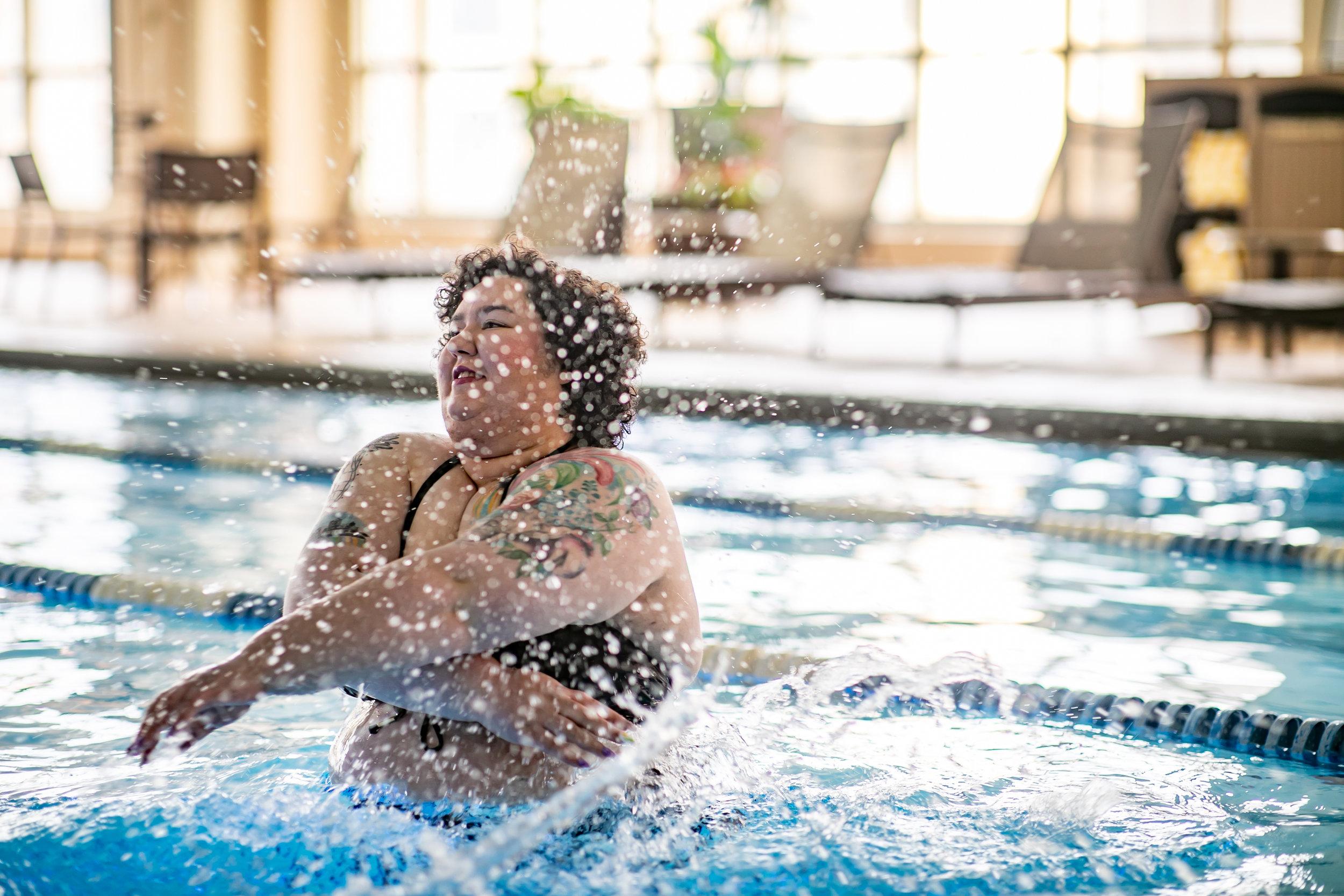 chicago lake county blogger influencer mechanic shop femme hilton hotel swimsuit-5939.jpg