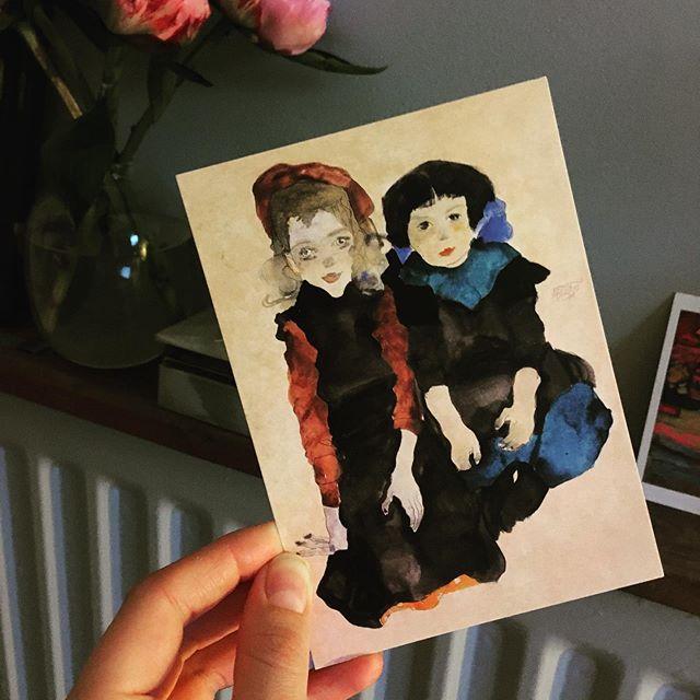 #egonschiele #painting #postcard #portrait