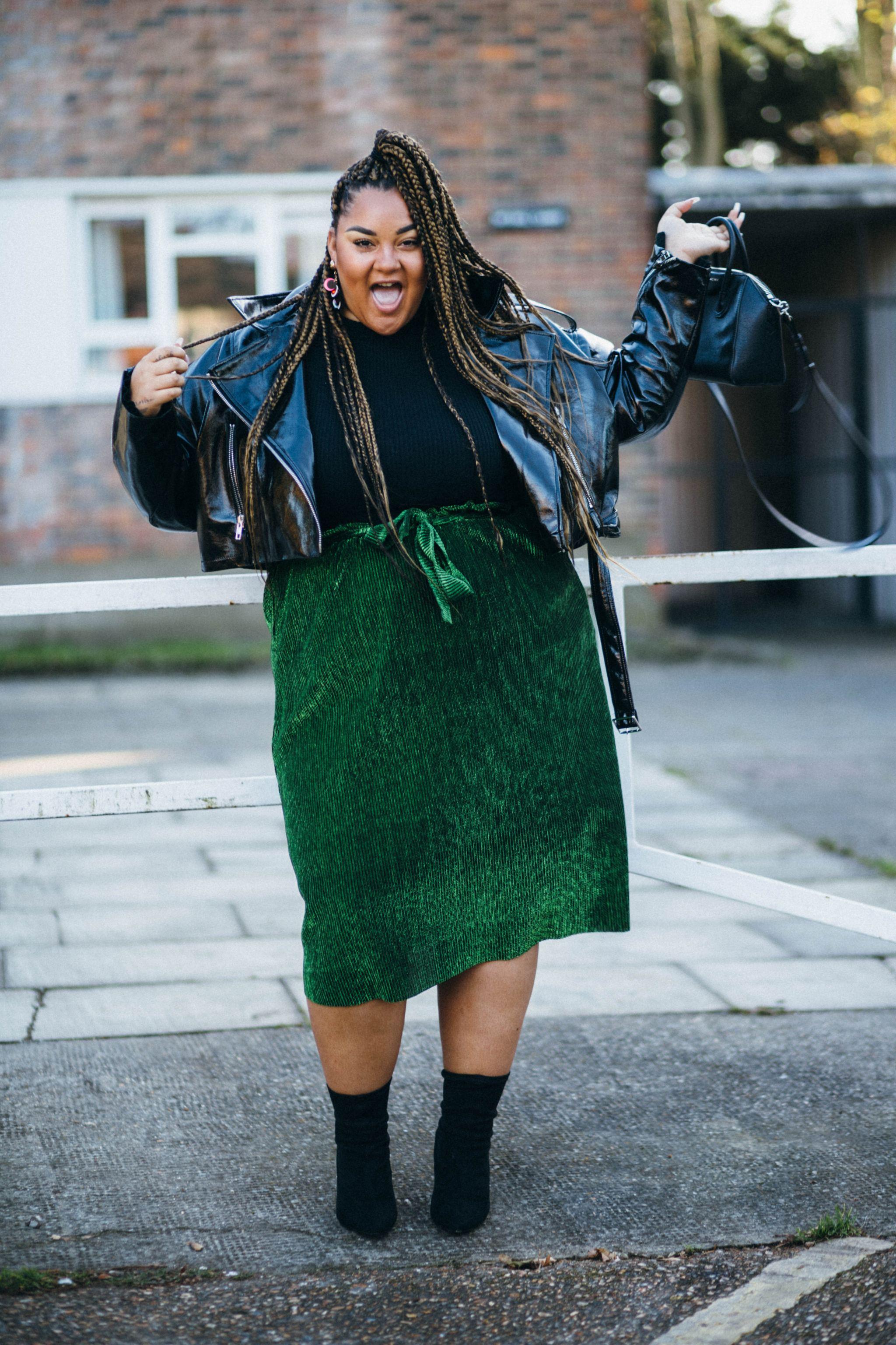 gracie francesca green skirt