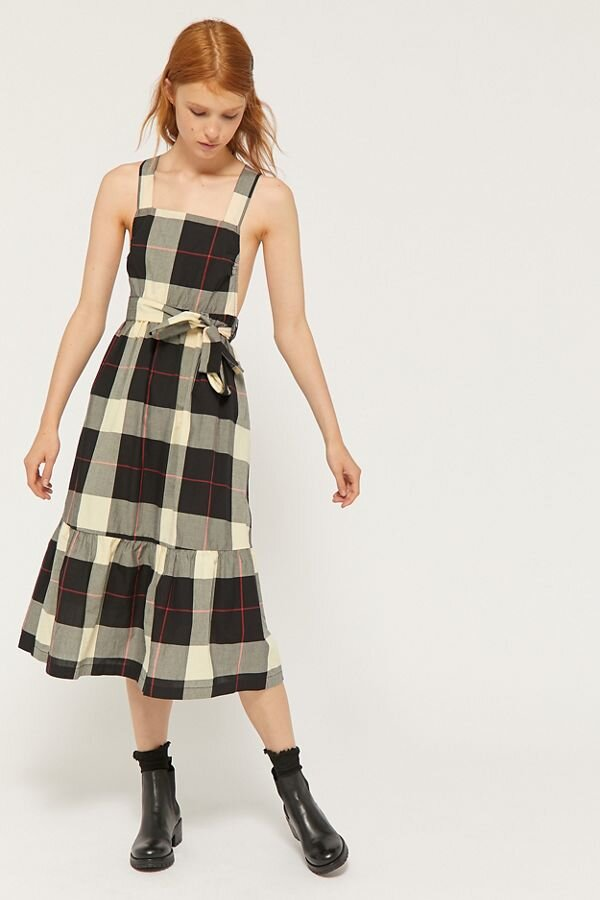 Urban Outfitters  Plaid Midi Dress ($84.00)