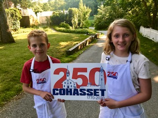 250th Party Greeters Finn Sheffield and Celia Bianchi.jpg