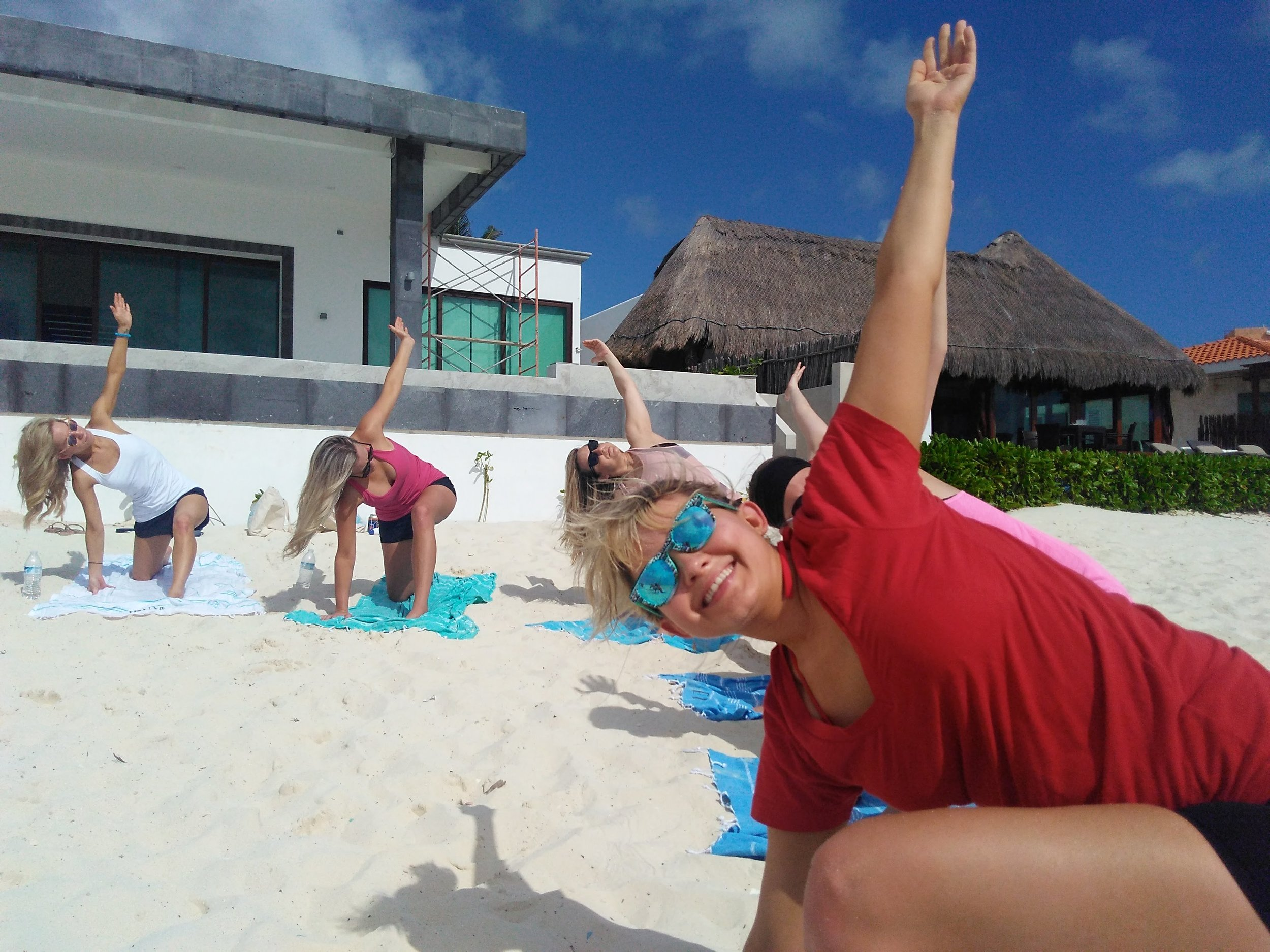 beach yoga playa del carmen