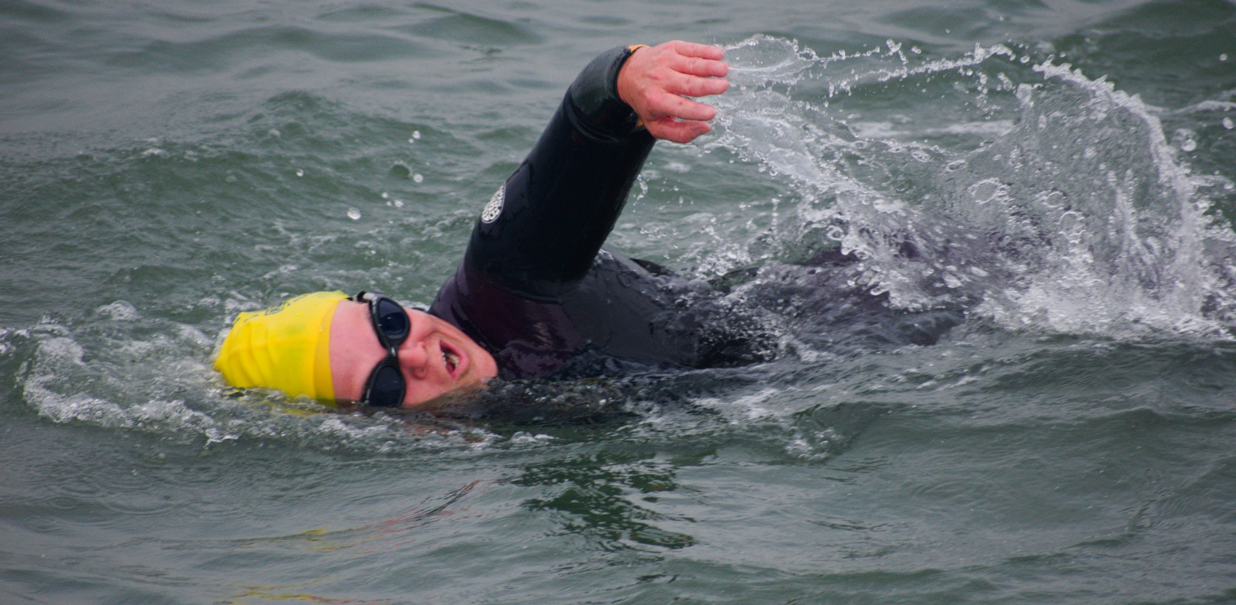 Wearing a wetsuit for open water swimming