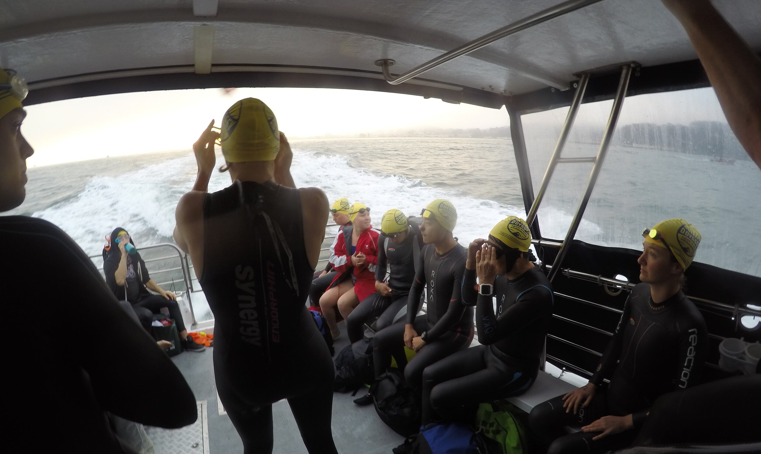 Preparing to Jump In Odyssey Open Water Swimming
