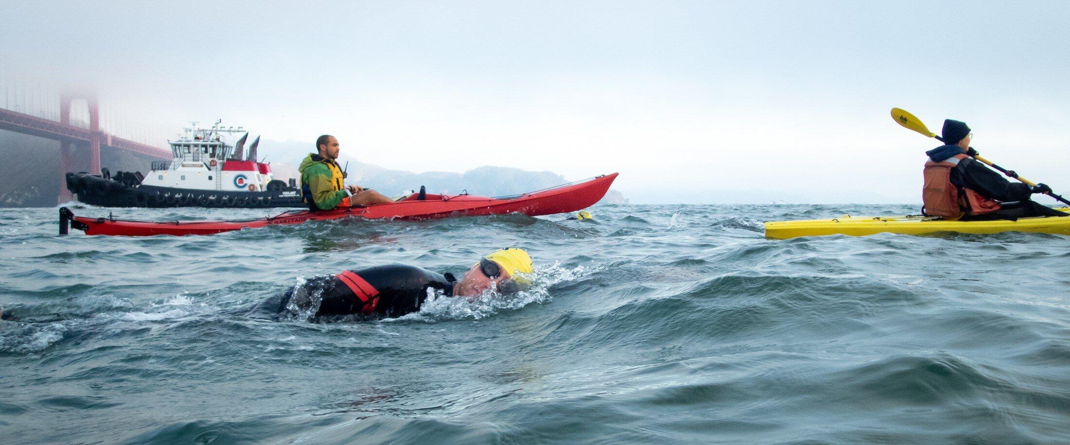 Kayaking for Bridge to Bridge Swim 2