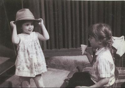 Jen and Kristin in the studio.