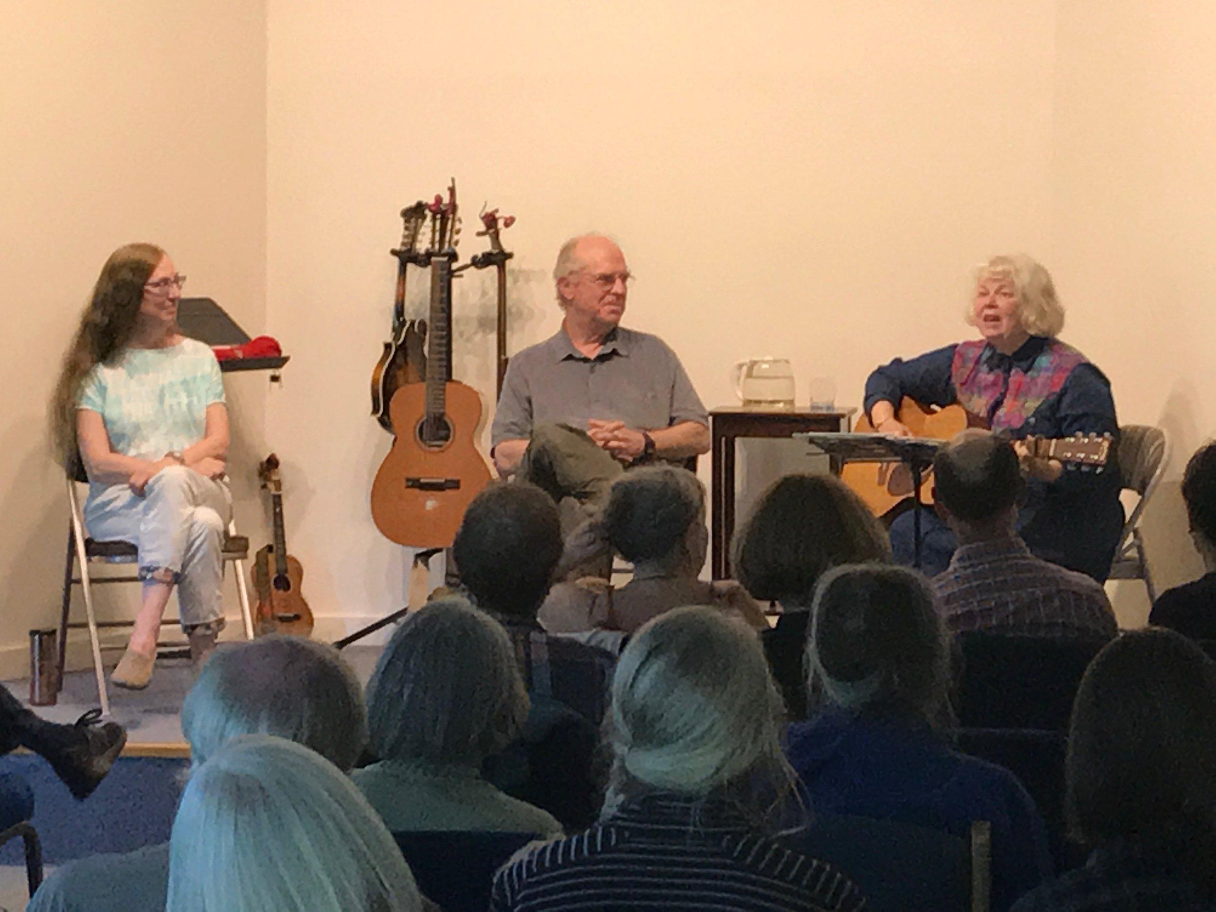 In concert with Tom Rawson and Ellen van der Hoeven, in Port Townsend.