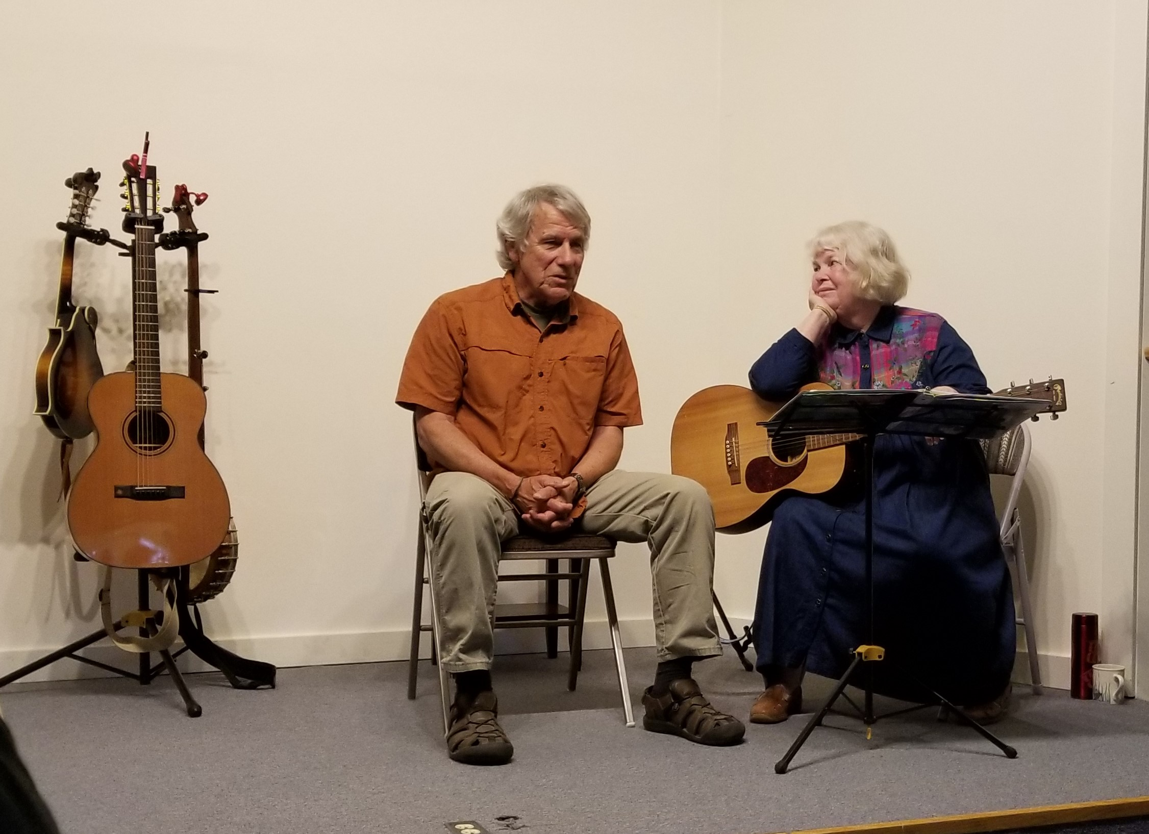 "My beloved husband Scott Slaba and I sing, ""Impossible Things,"" at Port Townsend."