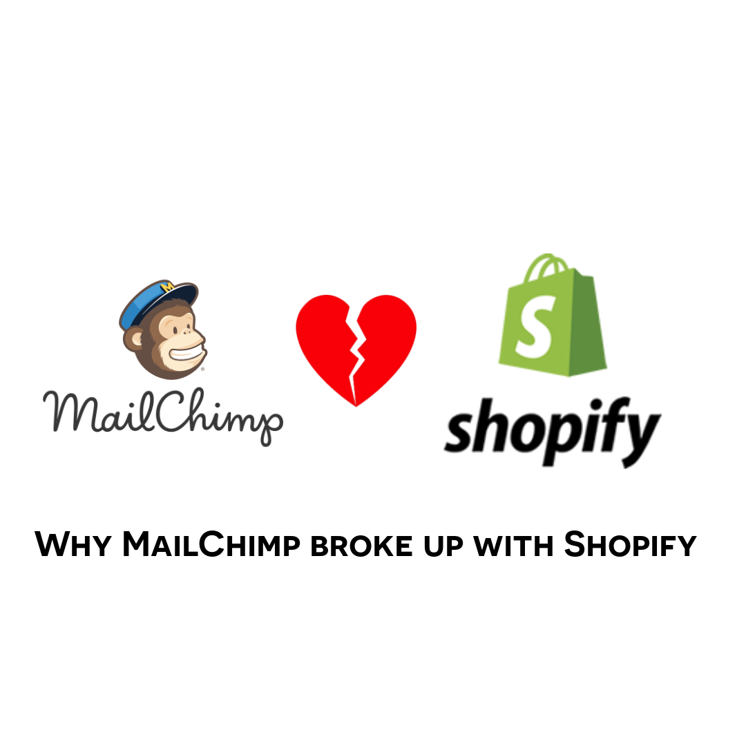 why mail chimp broke up with shopify