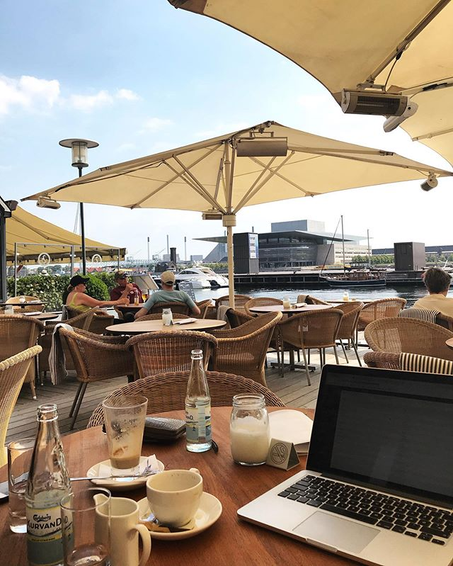 """We do not favor any costumers, but if you have a workspace like this you will be my favorite client"" - Anna  #workhard #playhard #workspace #sun"