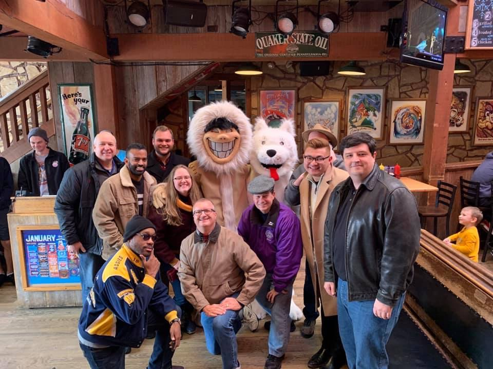 Centennial Celebration Committee at Joe's for lunch during Winter Council Meeting.