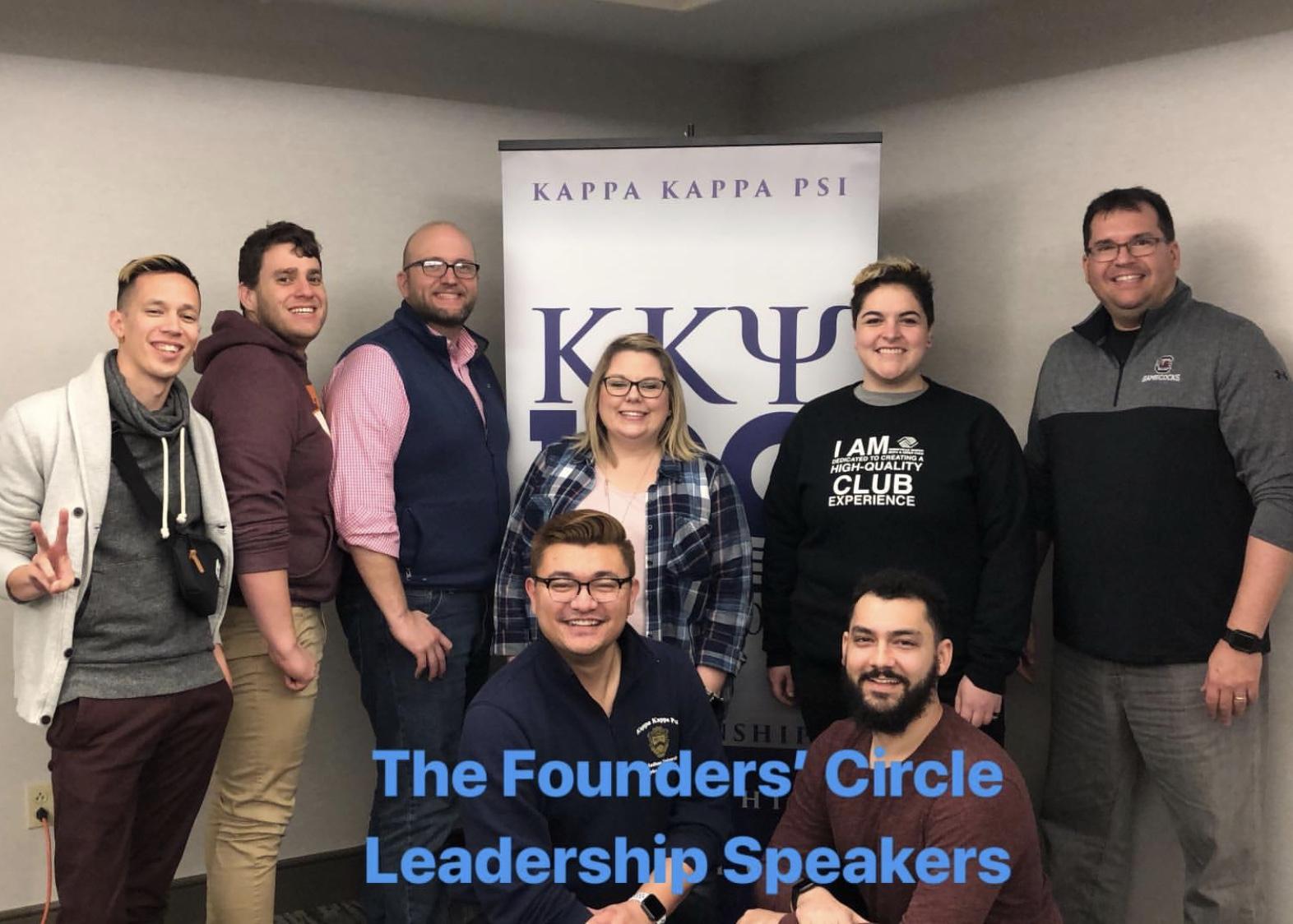 Inaugural speakers/members of the Kappa Kappa Psi Founders' Circle Leadership Development Program.