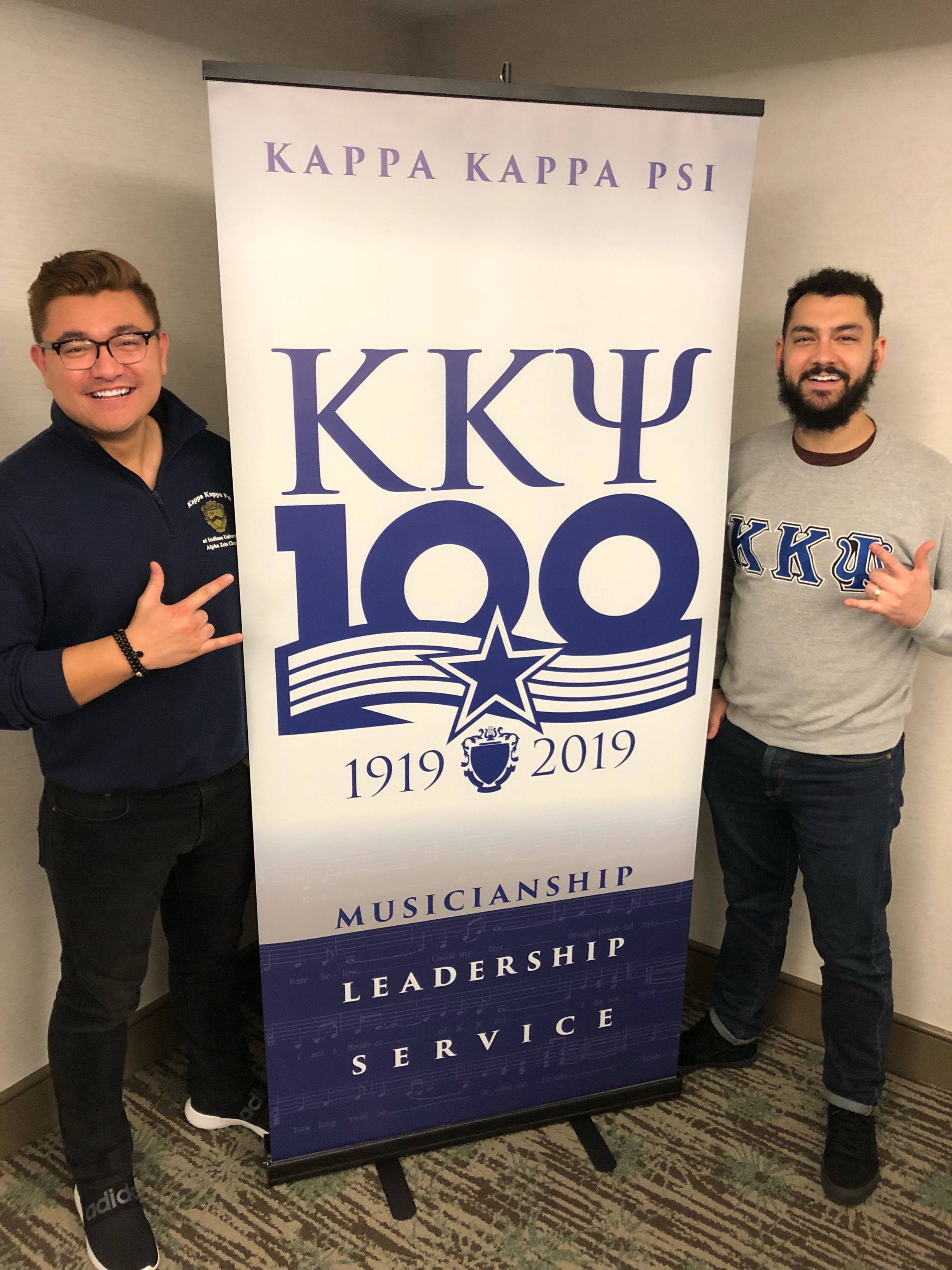 NCD and SED meets again! Jason Ortiz served as Southeast District President at the same time that I served as North Central District President. Very excited to continue our service to KKPsi together!