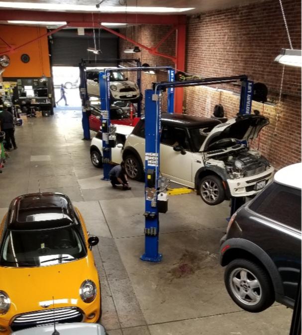 MINI repair shop in San Francisco