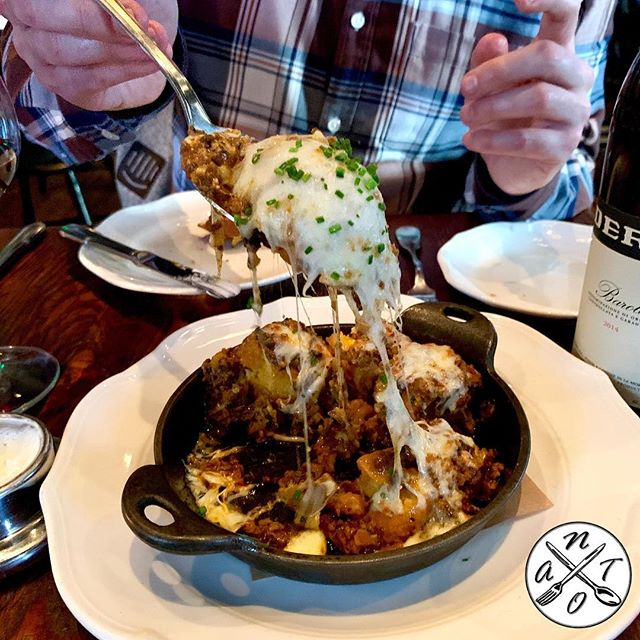 Wayfare Tavern #natoscore 6️⃣7️⃣7️⃣7️⃣ . #poutine : crispy #polenta with forest #mushrooms  bolognese and chedder #cheese  curds . . . #sf #sanfrancisco #sflife #sfeats #sfvibes #sfexperience #sfdining #sffood #foodie  #sfrestaurants #diningout #sffoodie #foodies #foodporn #hungry #tasting #onlyinsf #foodlover #tasty #yum #yummy #foodart #foodpics #bestfoodsf #appetizers