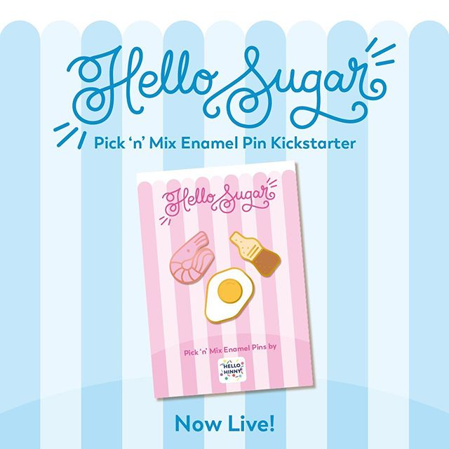 My new kickstarter is now live! 😄🍬 . I've designed a bunch of mini pins themed around old school sweets! You can wear them on their own, or pick'n'mix to create your own combination to wear 😄 . There's also a bunch of early bird deals where you can snap up a bargain 😄 . You'll find the link in my bio! 😄🍬 . . . . . #kickstarter #kickstartercampaign #candy #sweets #picknmix #retrosweets #retro #candystripe #oldschool #pin #enamelpin #enamelpinkickstarter #enamelpins #shimp #foamshrimp #friedegg #colabottle #pingamestrong