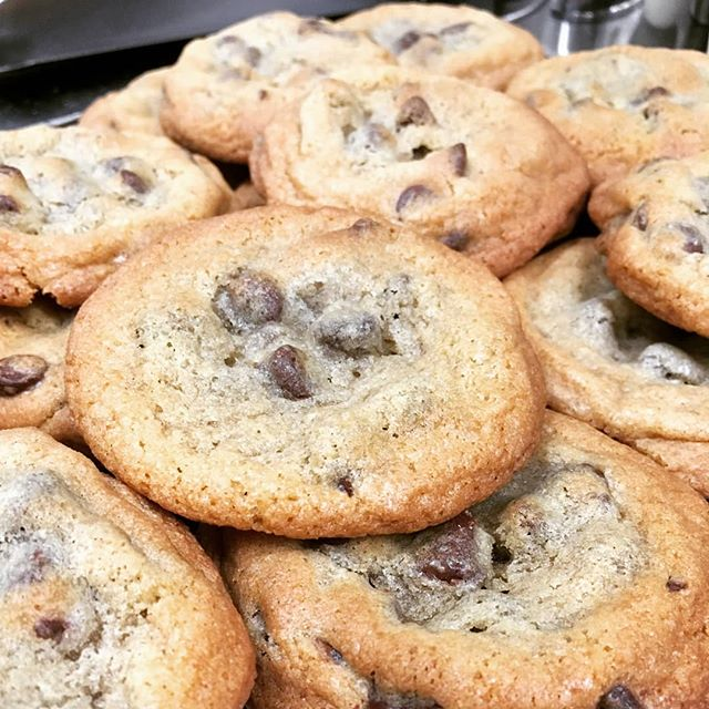 More delicious chocolate chip cookies baked fresh from scratch.  I've tried them and they really are fantastic tasting.
