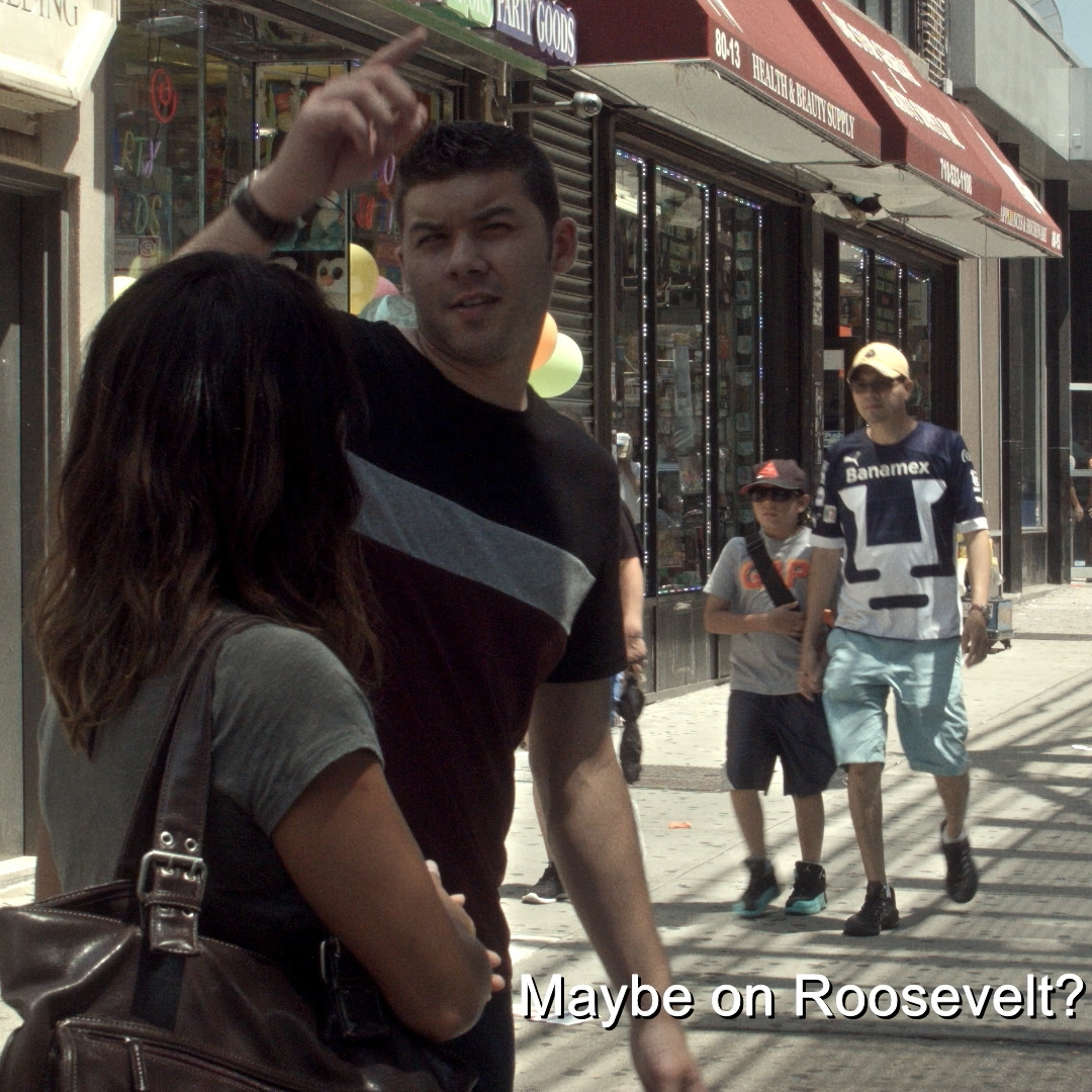 Andrew Casanova as YOUNG MAN   A Spanish speaking resident who helps LIBBY (Ali Ahn) ( IMDb )   Filmed at: Roosevelt Avenue,    Jackson Heights   , Queens