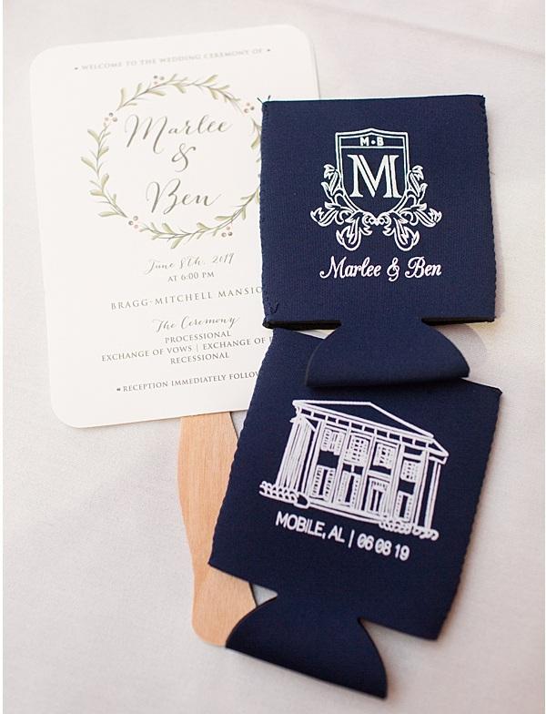 Murphree Wedding // Mobile, AL - hugger design, photography by https://elizabethgelineau.com/