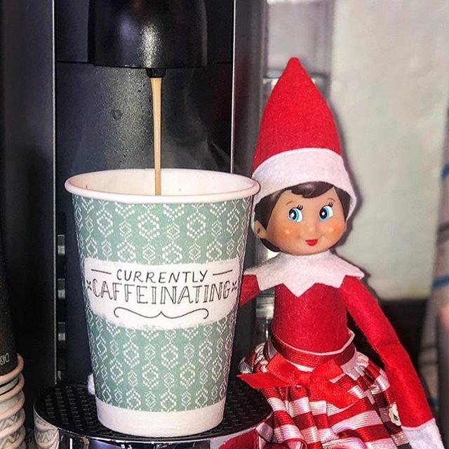 Even the Elf knows @5oclock_coffee is needed daily! Especially in order to help Santa! Ask for 5 O'Clock Coffee from Santa for your break room. #5oclockcoffee