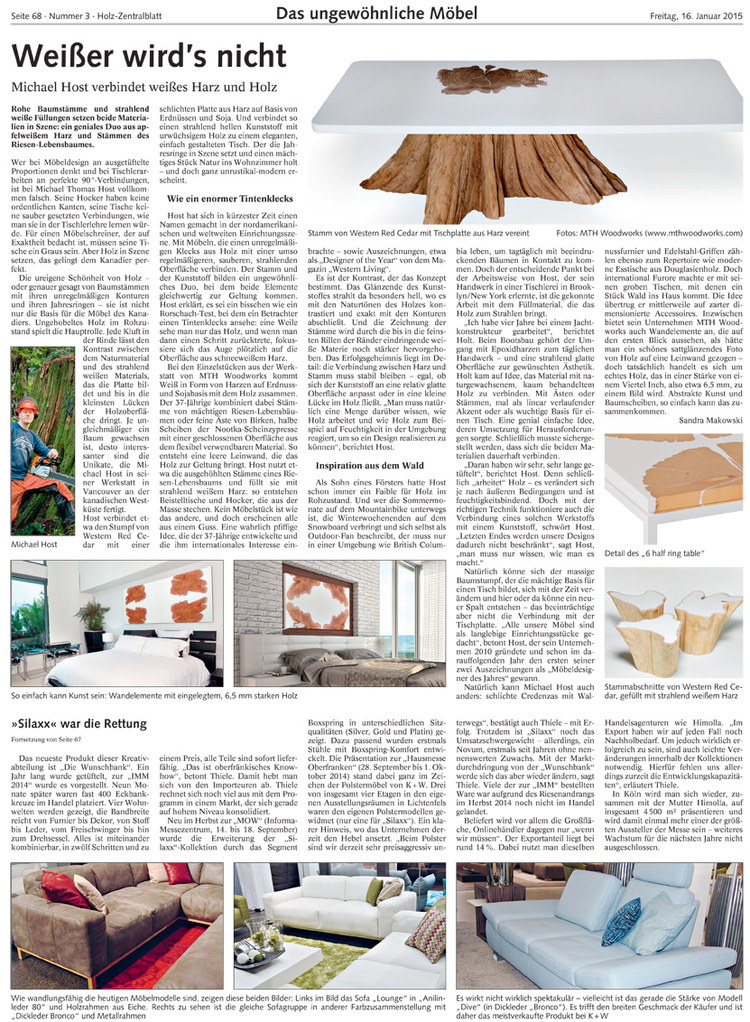 Holz-Zentralblatt Magazine - 2015 JANUARY ISSUE