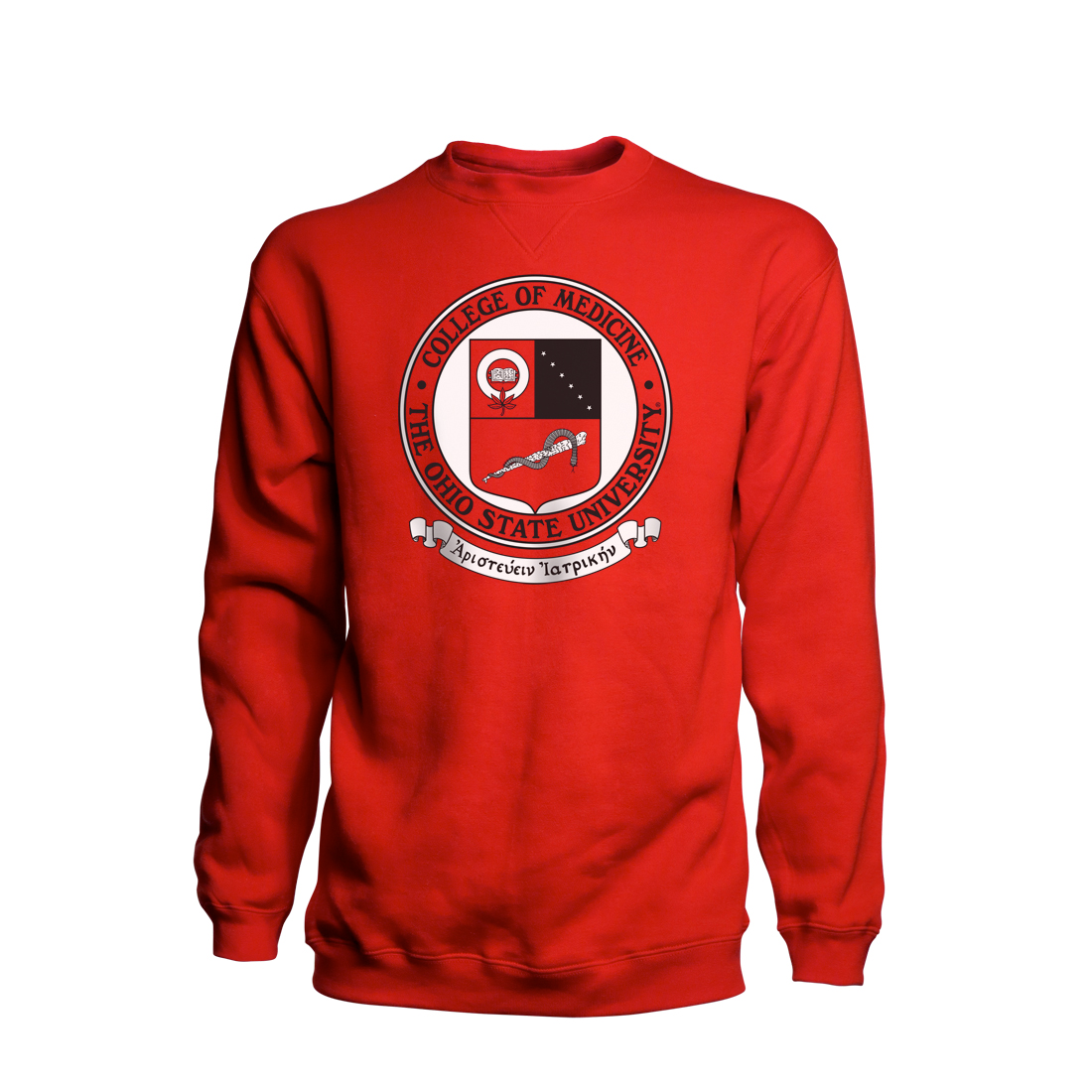 Red Crest Crew Neck Price: $45 Cotton-Polyester Sizes: S-XXL