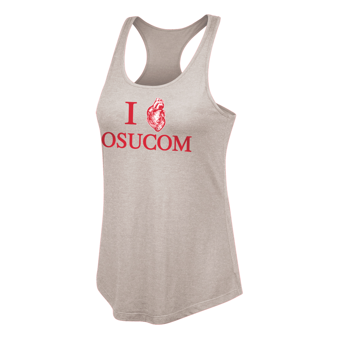 I Heart OSUCOM Racerback Price: $22 Polyester-Cotton-Rayon Triblend Sizes Available: S-XXL