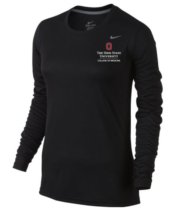 Women's Dri-Fit Long Sleeve Tee Price: $35 100% Polyester Sizes: S-4XL