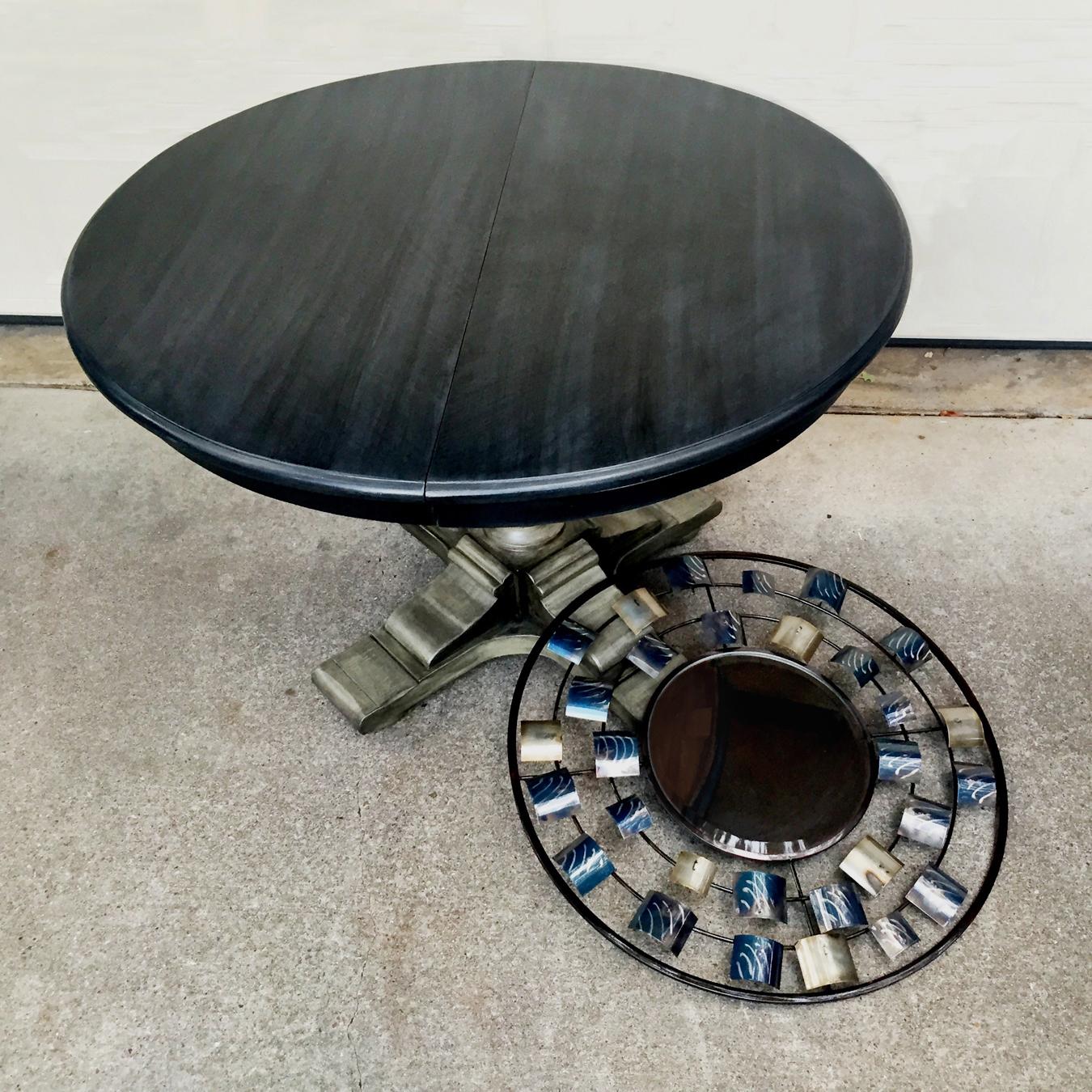 crimson + oak designs | graphite pearl pedestal table 2 C .jpg
