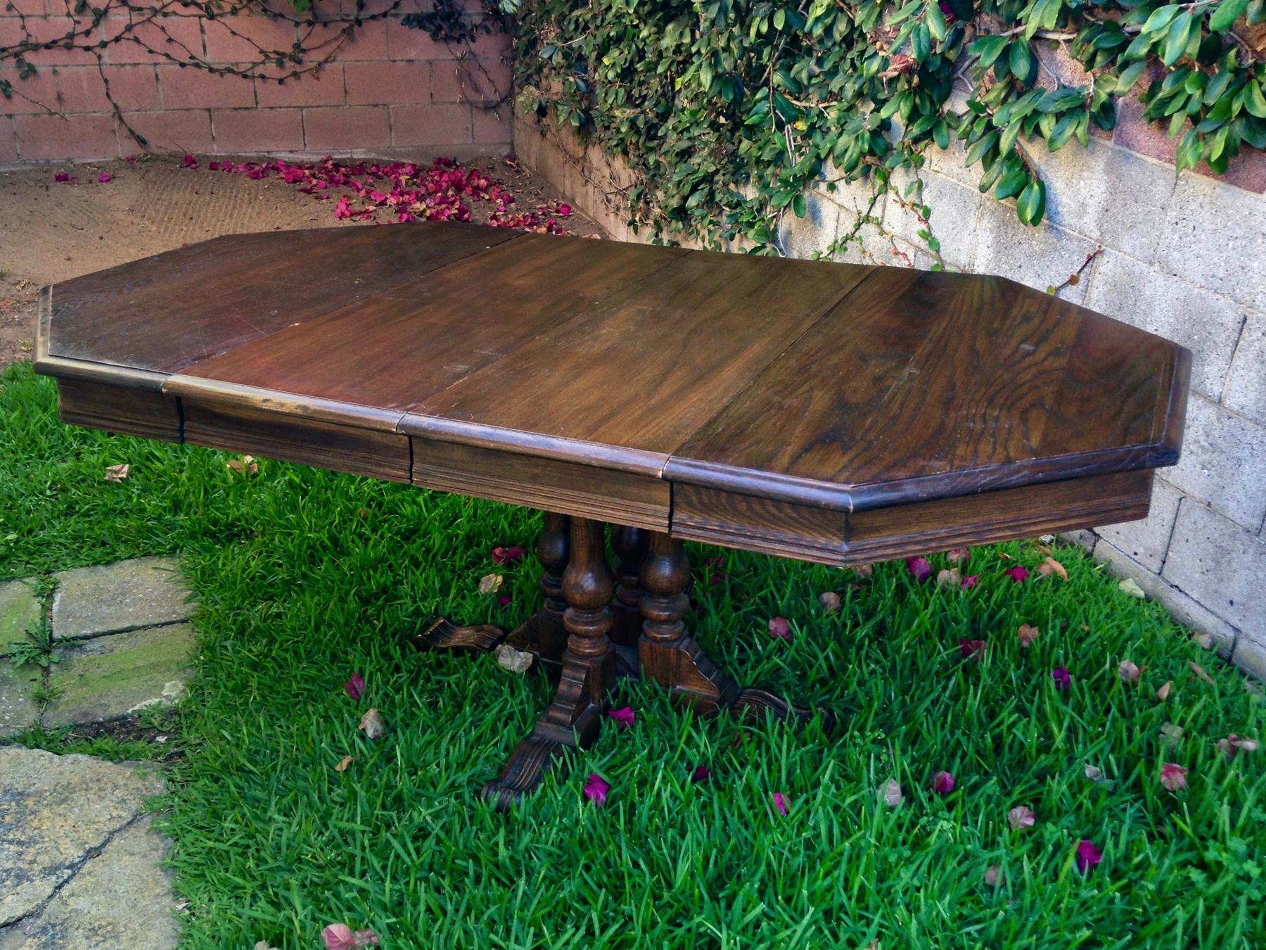 crimson + oak designs | vintage ethan allen dining table [with leaves] O.jpg
