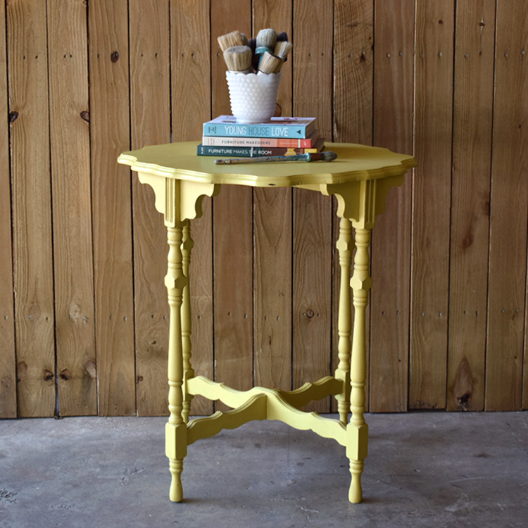 Copy of english yellow accent table     $125