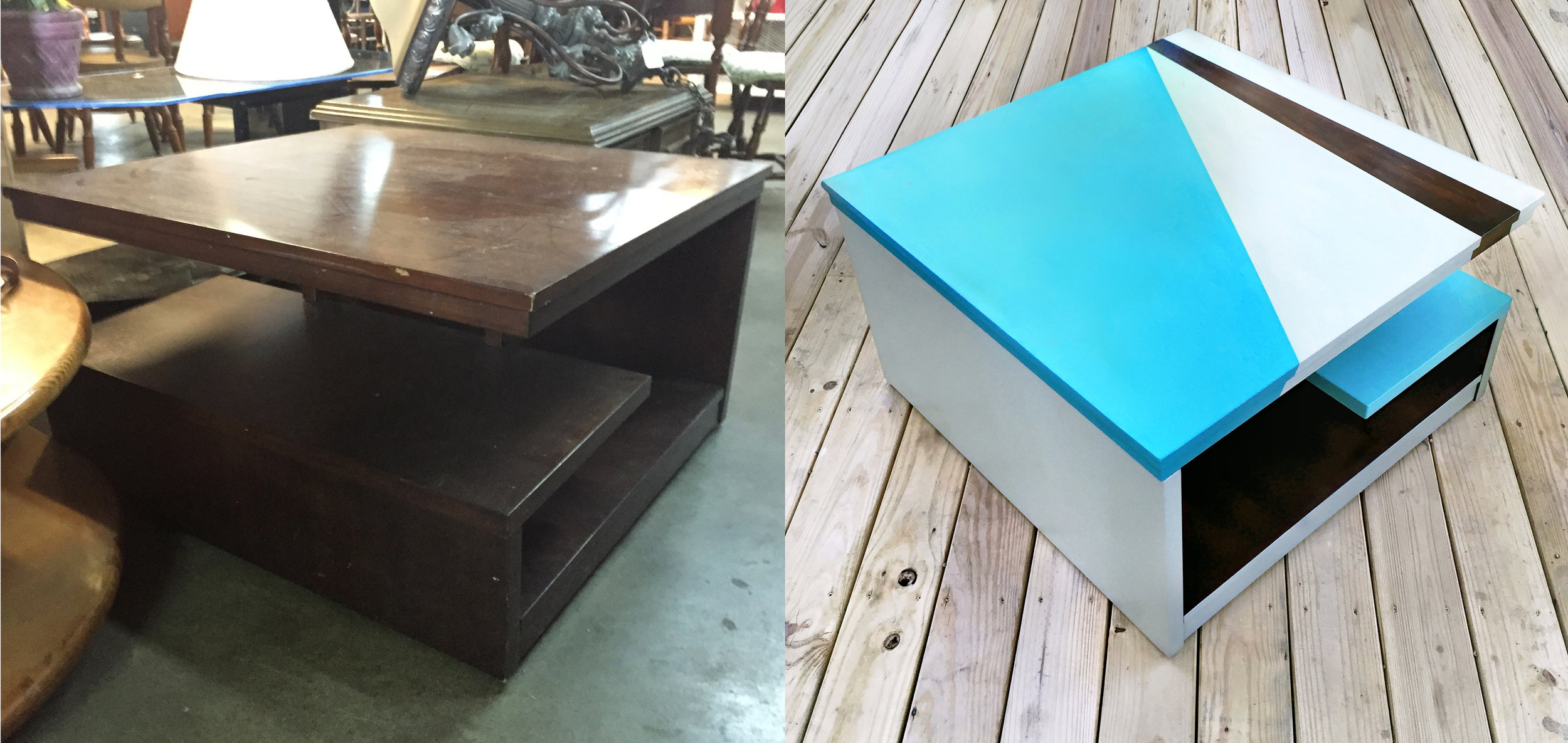 crimson + oak designs | square modern coffee table BEFORE & AFTER.jpg