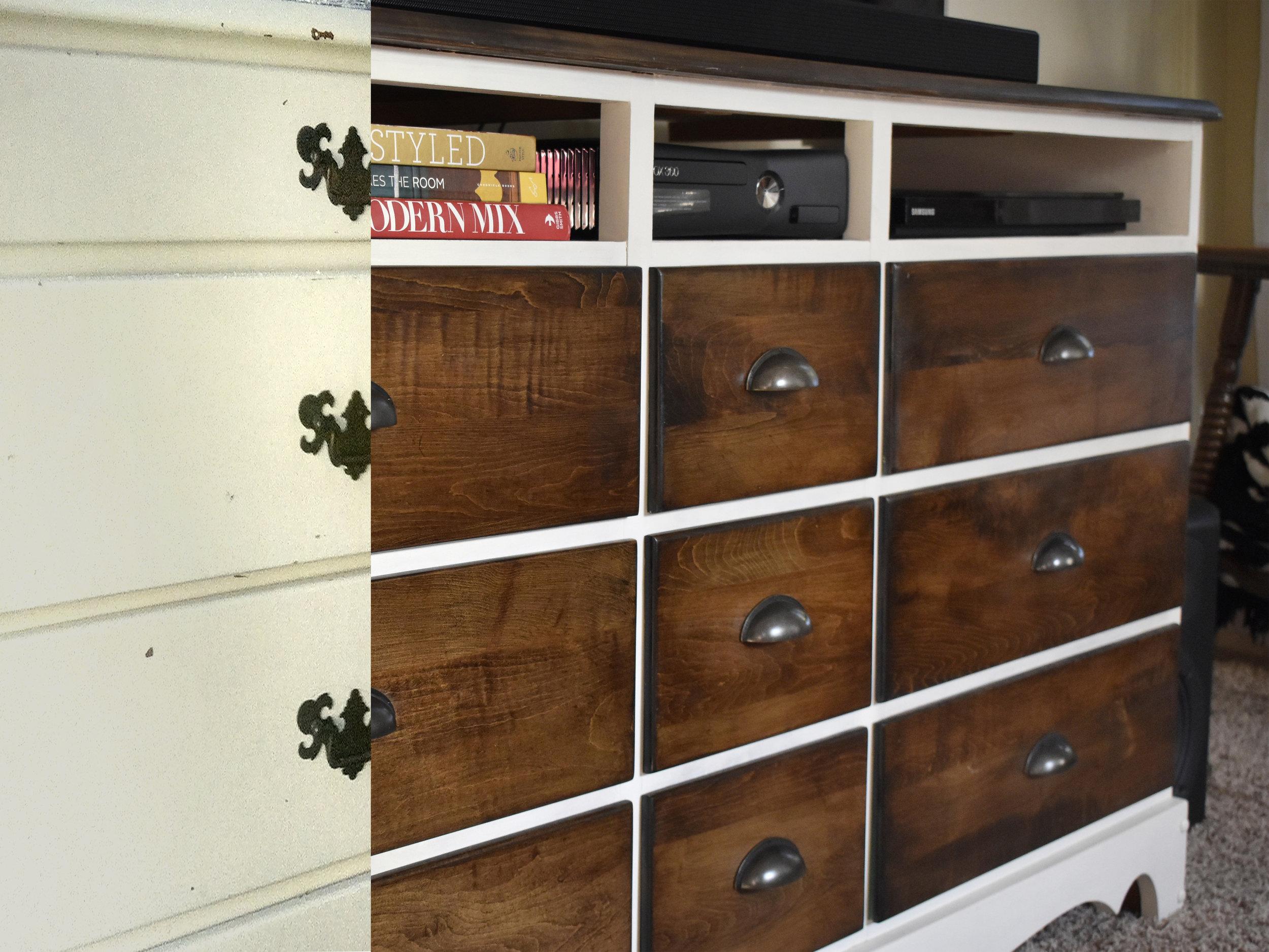 crimson + oak designs | dresser tv console BEFORE & AFTER.jpg