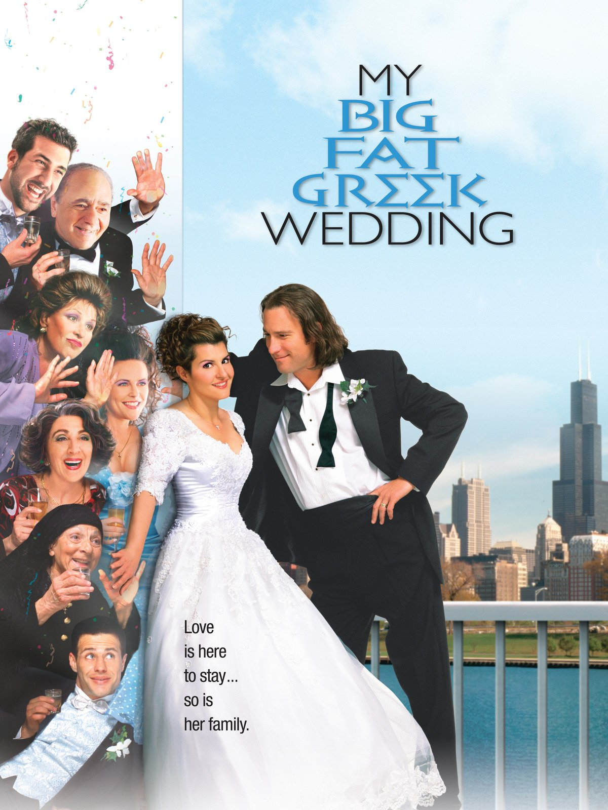 My Big Fat Greek Wedding    - A heartfelt comedy about a plain young Greek-American woman who struggles to break away from her large, loving and highly controlling family, so she can go to college and maybe, just maybe, meet and marry a nice American fellow. Over severe family objections, she stops working at their Greek restaurant, starts to work out (and lose weight), plucks her unruly eyebrows, and generally