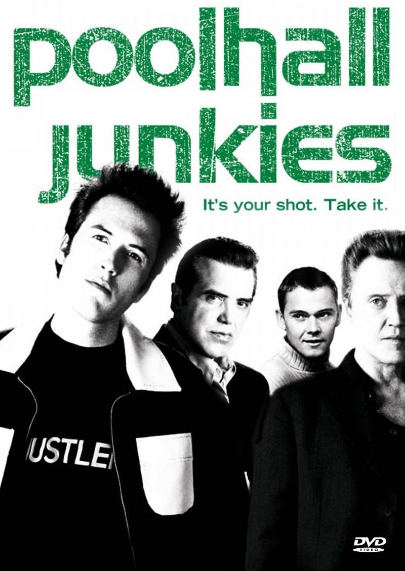 "Poolhall Junkies - A  hard-edged drama about a 30-year-old Detroit pool hustler named Johnny.  He grew up homeless in New Orleans but was a pool prodigy. He was ""adopted"" by a Fagin-like gambler named Joe, who could have sponsored him as a pro player but didn't, preferring to use him as a money-hustling machine. Johnny discovers Joe's betrayal early in the film, during a high-stakes match at a ghetto bar, where he finally breaks free of this dark presence in his life. Johnny swears off pool and takes up with a great upper-class woman, Tara, who's a recent law-school grad interning at a prestigious firm. Johnny is a carpenter on a construction site but he's not very good at it. His journey over the course of the film concentrates on his inability to hold a job, Tara's discomfort when he occasionally ""falls off the wagon"" and hustles pool, and Johnny's own profound dilemma – his only real gifts are as a pool hustler, yet it's a ""dirty"" life denounced by the woman he loves, and he's not sure he's got the right stuff to be a pro. Written and Directed by: Mars Callahan. Starring: Christopher Walken, Chazz Palminteri, Rick Schroeder, Mars Callahan."