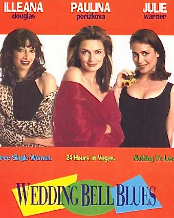 Wedding Bell Blues - Three 30ish single friends/roommates cope with a variety of crises. Pregnant Tanya learns that her boyfriend Tom has no intention of marrying her, Micki's fiance has just called off their wedding, and Jasmine's conservative parents are upset by their promiscuous daughter's approach to life. Stressed, the women decide to seek their fortunes in Vegas – preferably through some quickie marriages and even quickier divorces. Written by: Dana Lustig and Annette Goliti-Gutierrez. Directed by: Dana Lustig. Starring: Illeana Douglas, Paulina Porizkova, Julie Warner, John Corbett, Debbie Reynolds.