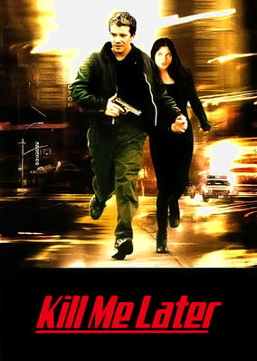 Kill Me Later - A dark comedy about a depressed bank teller who is contemplating suicide when her bank is robbed. Bottle of booze in hand, she is inches away from jumping to her death when the heist goes awry and she finds herself face to face with the thief. Panicking with the law closing in, he asks for her help. She agrees to help him escape of he makes one promise - kill her later. And so begins a run for both their lives. Written by: Dana Lustig, Annette Goliti Gutierrez, Maria Ripoli. Directed by: Dana Lustig. Starring: Selma Blair, Max Beesley.