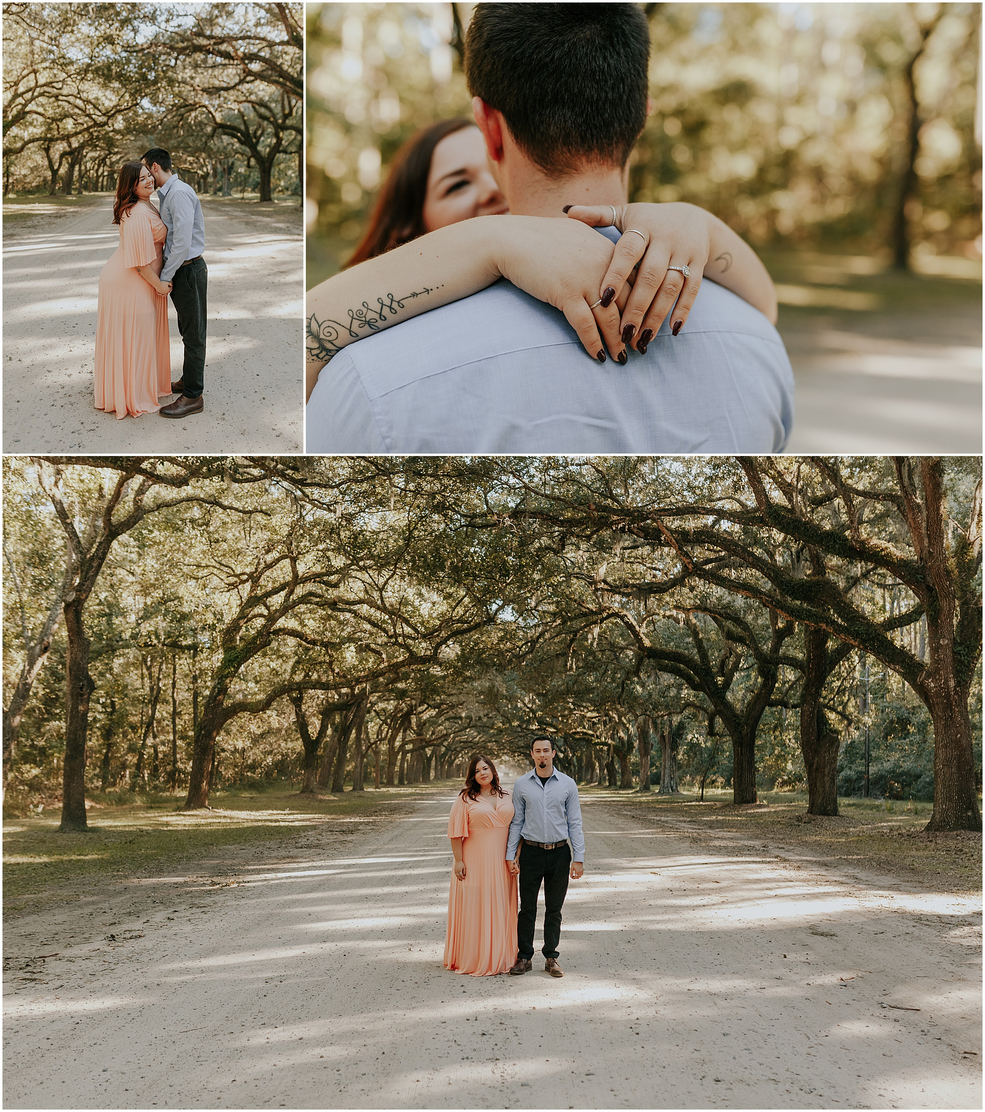 Wormsloe historic site engagement photos