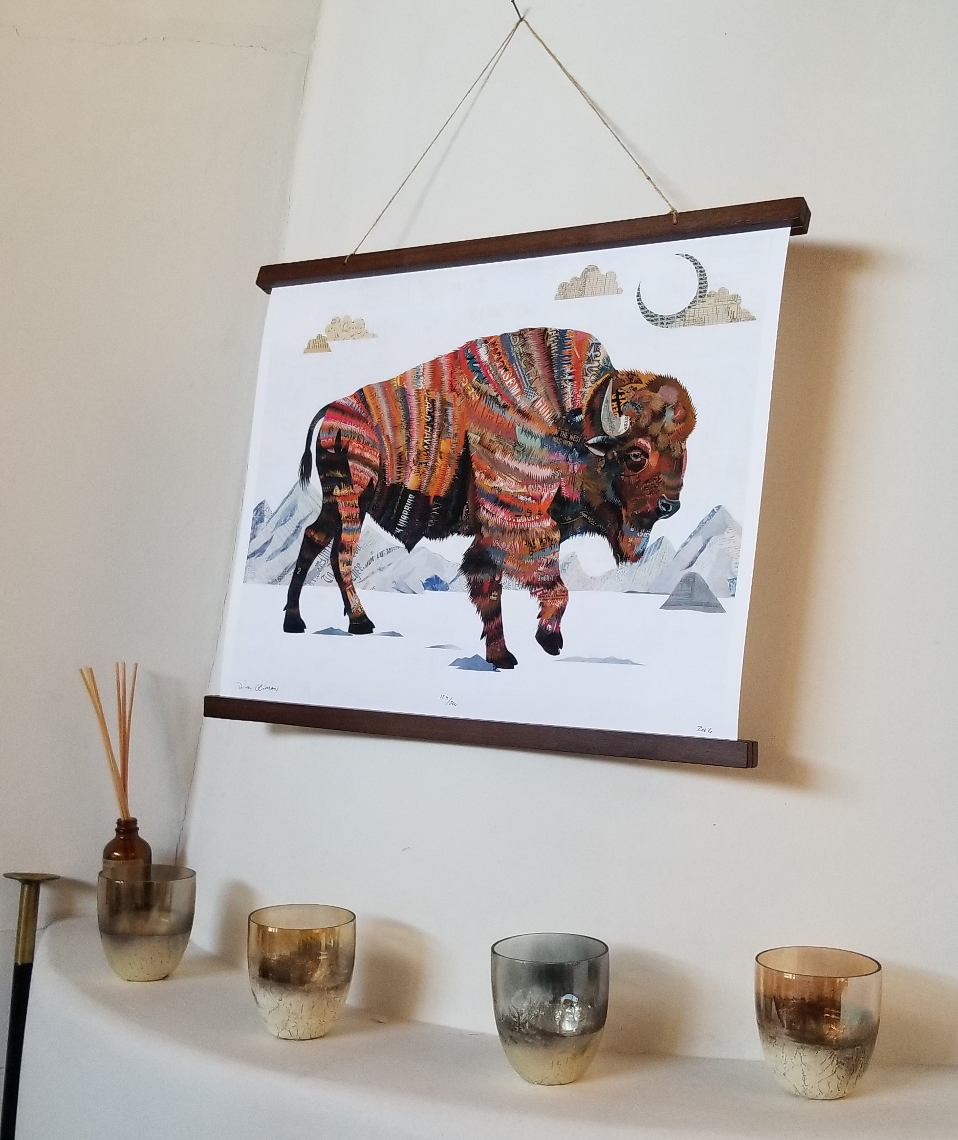 Dolan's buffalo that graces our home.