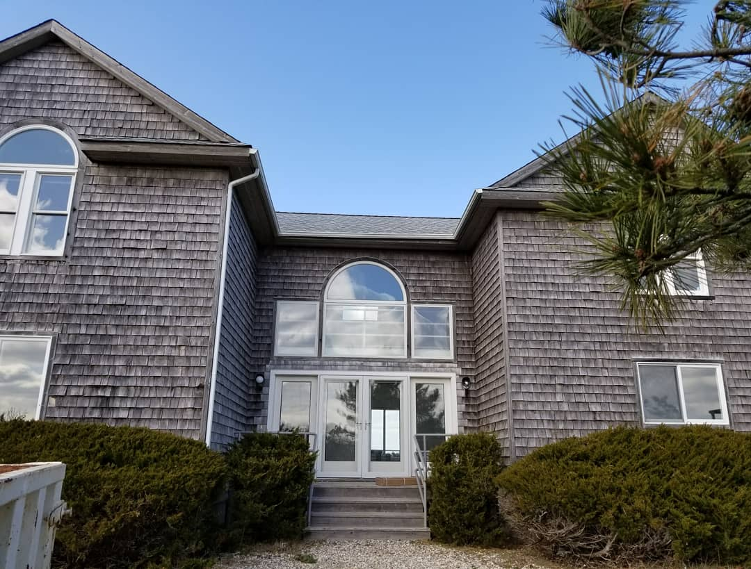 The house in Amagansett.  He got to stay in the one next door while he remodeled this one.