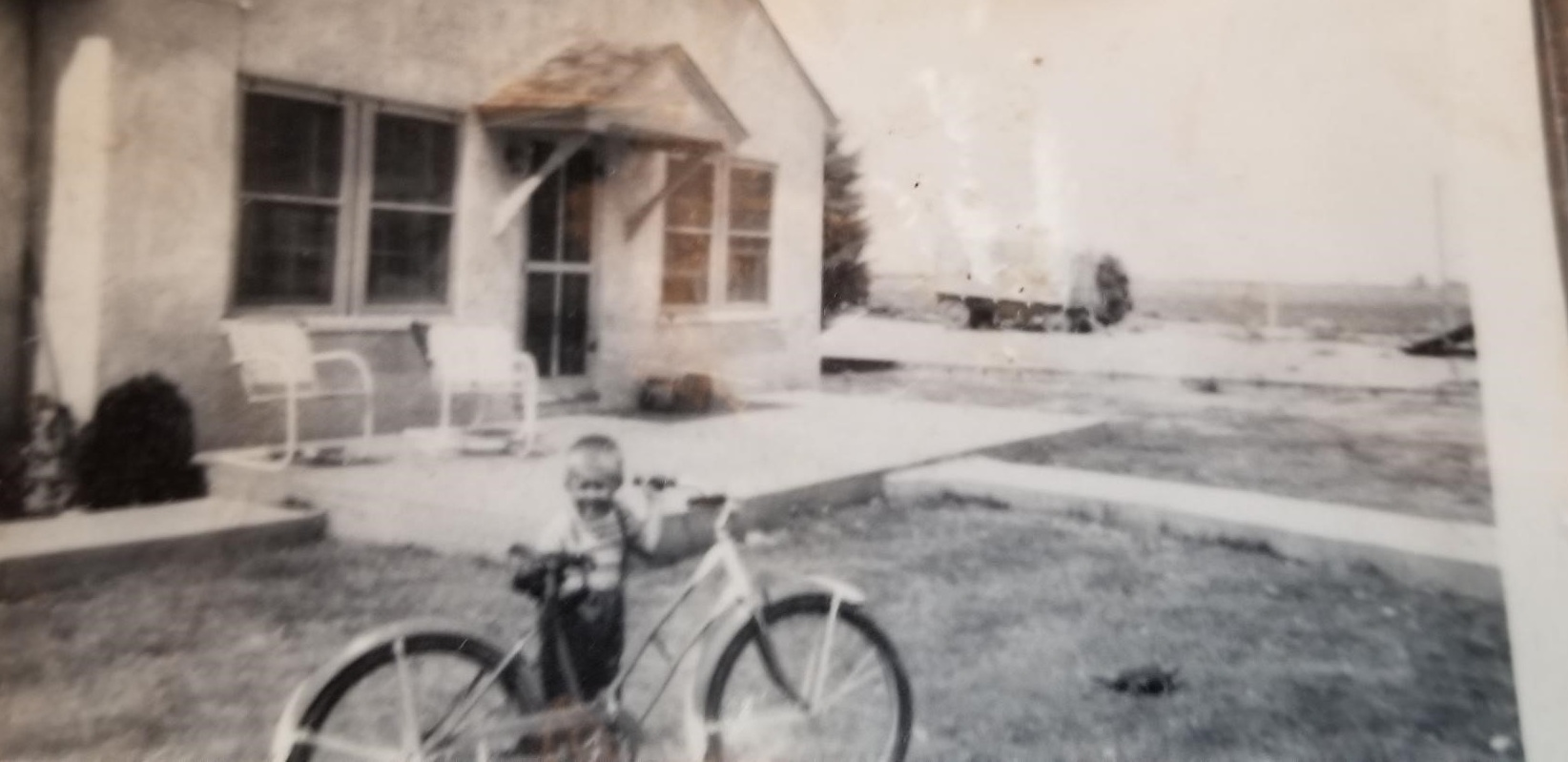 The Ruebush farm's very humble beginnings. My grandfather started farming the land when he was 12. When he married my Grannie, he built the house, by hand. They had 5 children; this is my Dad.