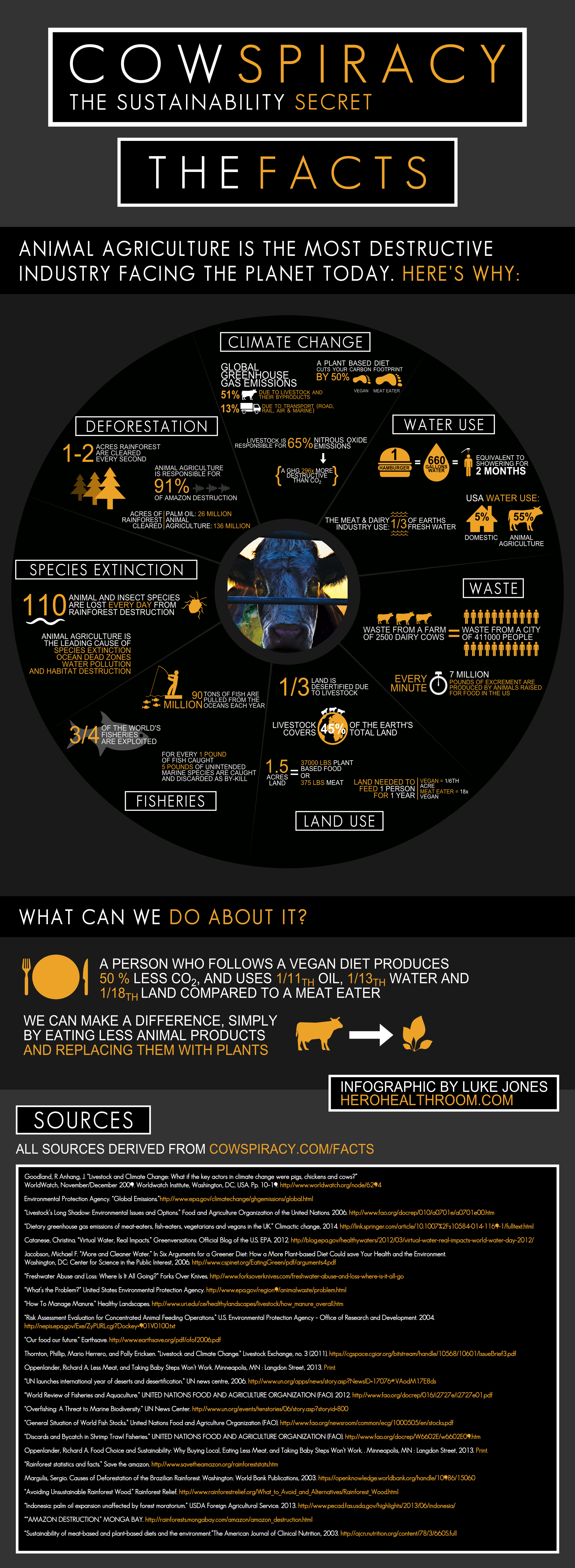 Cowspiracy Infographic  http://www.cowspiracy.com/infographic
