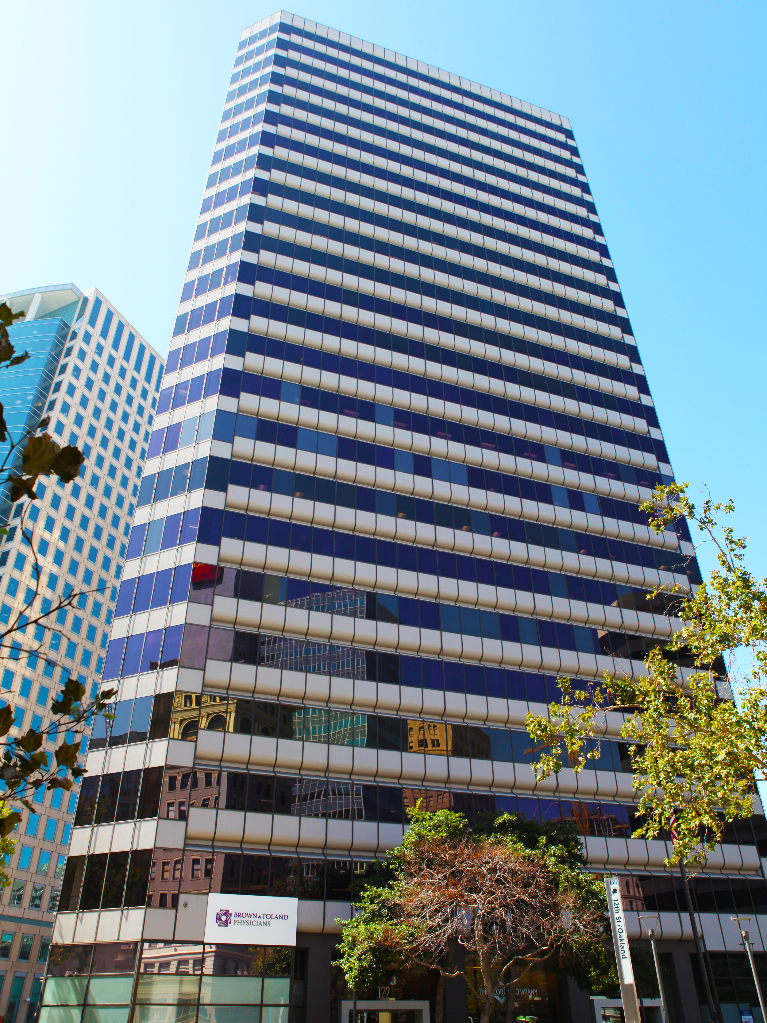 Brown & Toland - 1221 Broadway - Oakland, CA:  Previous known as the Clorox building, The Jones Lang LaSalle' developed space is now home to Brown & Toland. The company now occupies a new 60,000 square foot space that with serve as its headquarters for their 300+ Bay Area employees.