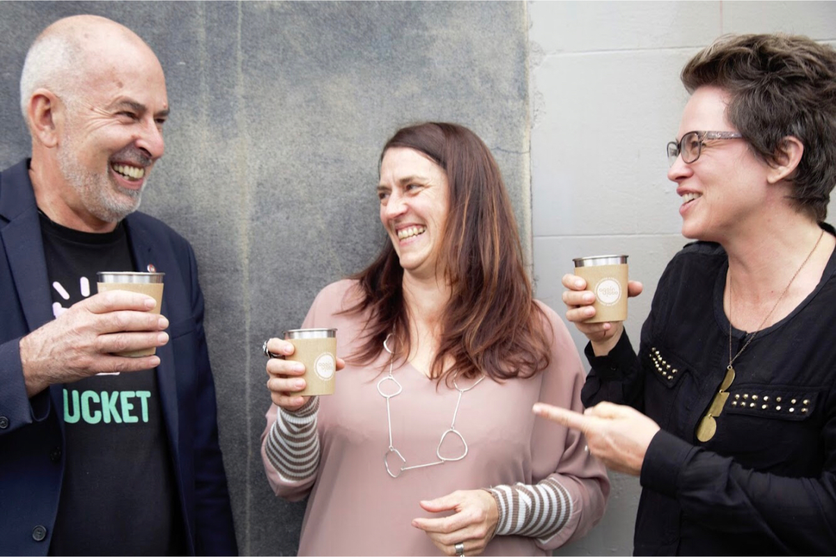 Ecostore's Malcolm Rands, with co-founders Nada Piatek and Melissa Firth