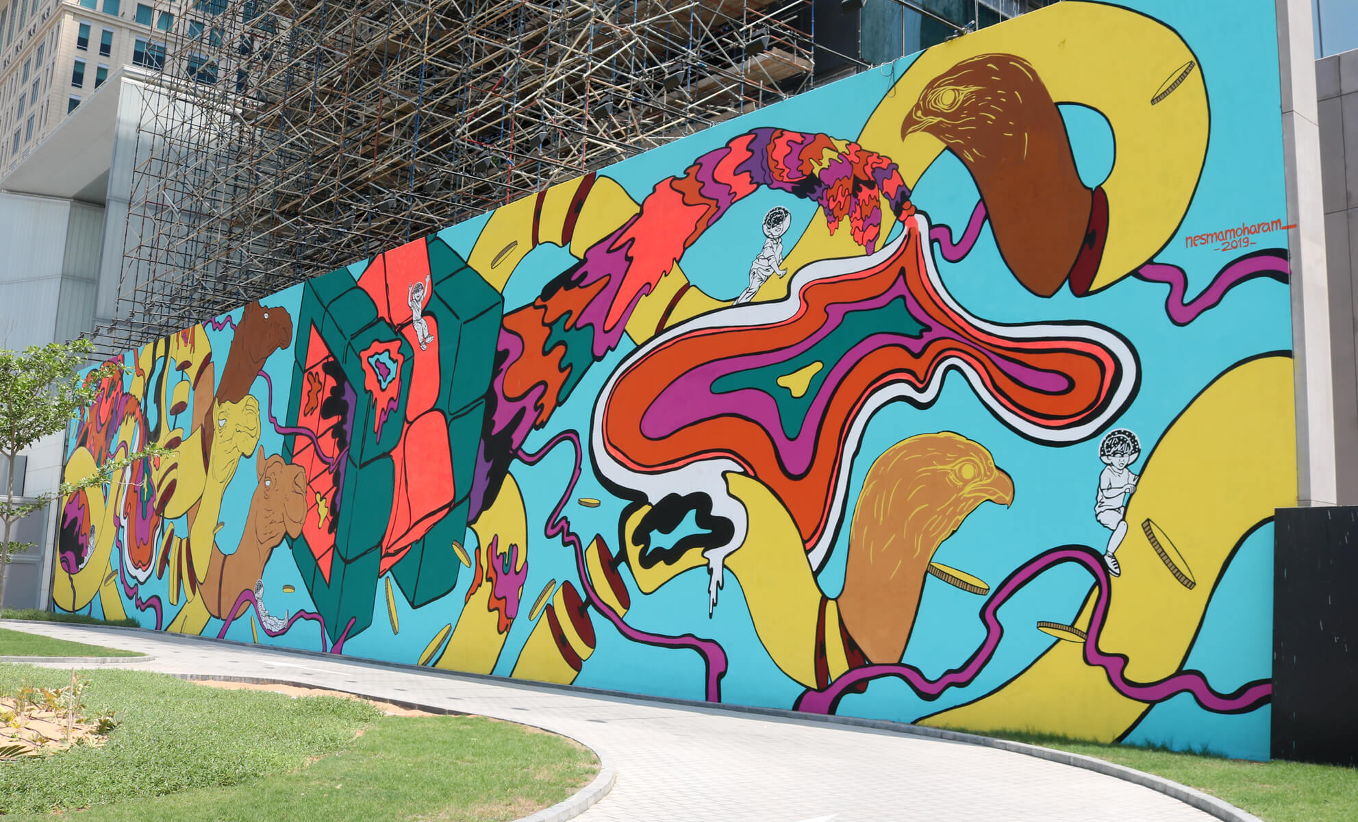 ARTFIVE0 MURAL REVEAL   Metamorphosis of Dubai