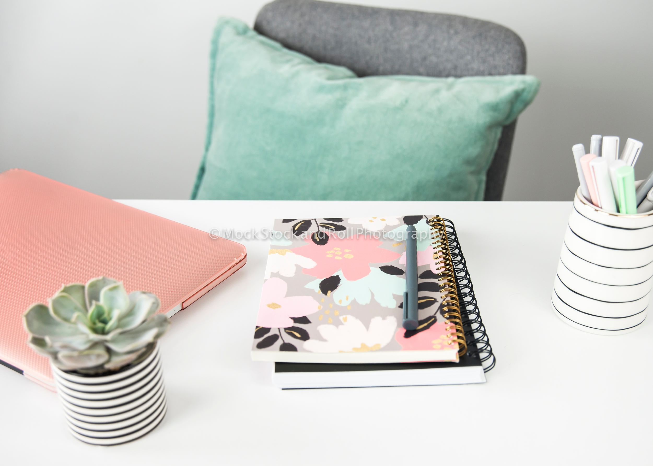 pink and mint green styled stock photos mock stock and roll