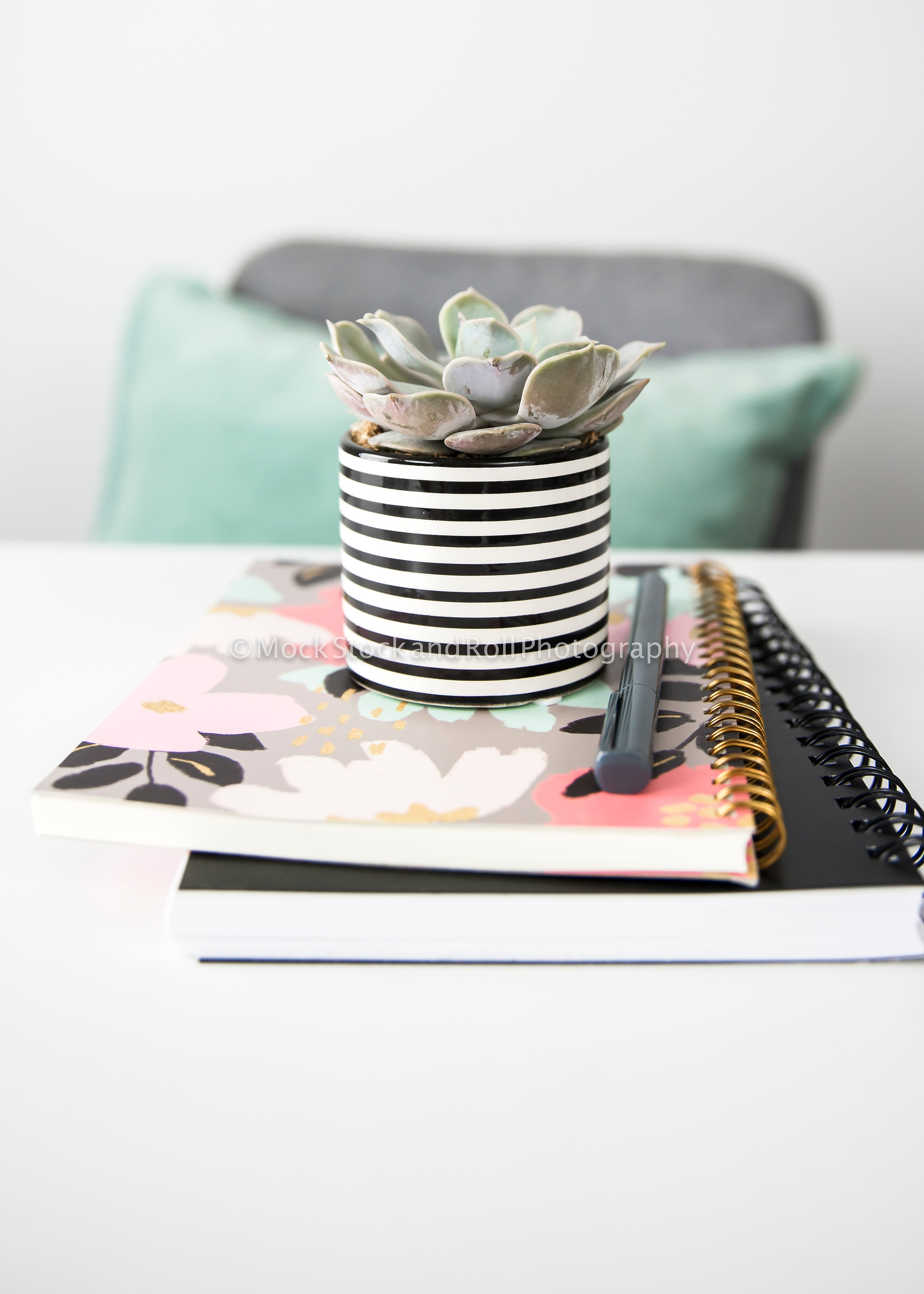 pink and mint styled stock office photos mock stock and roll photography