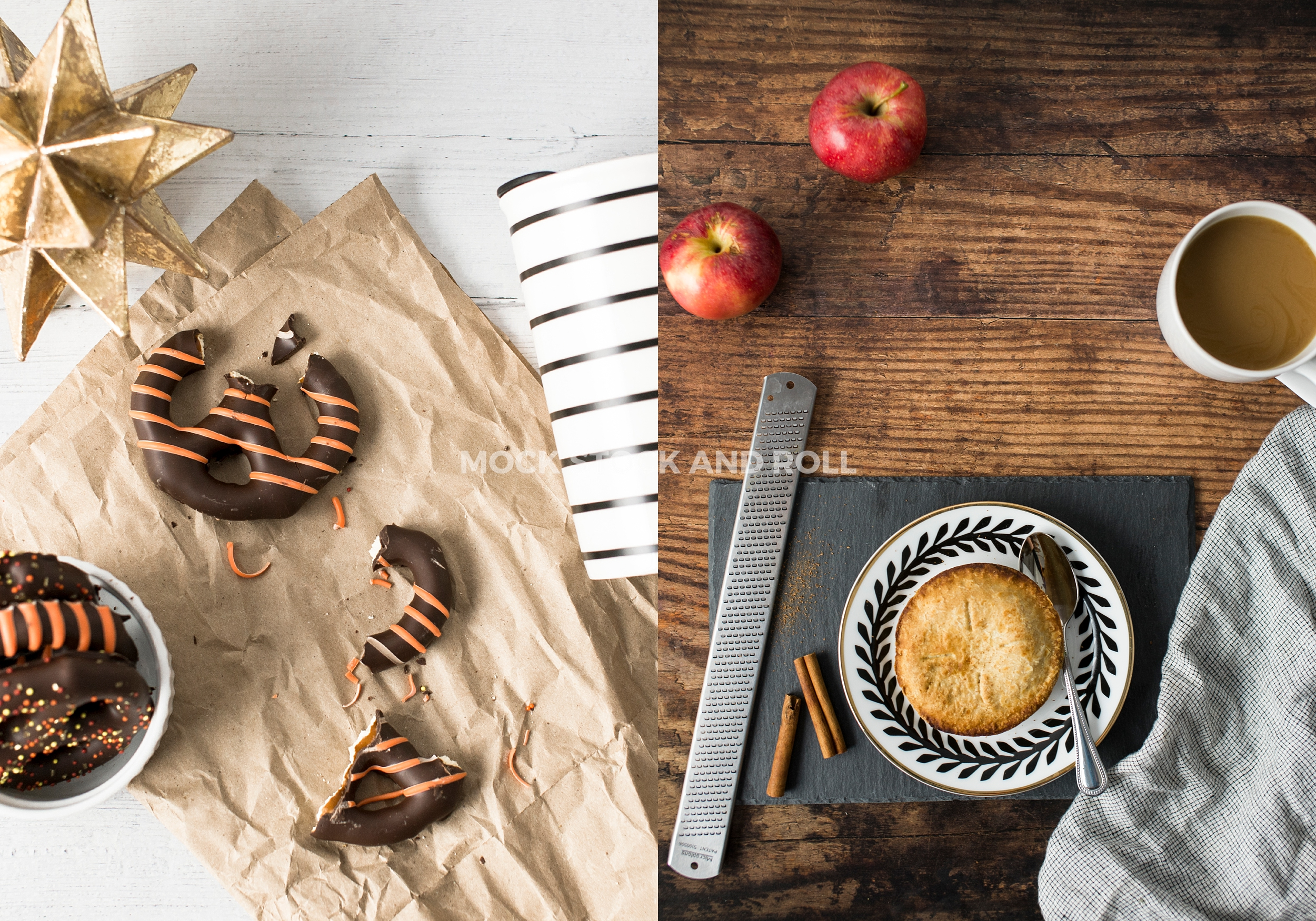 Yummy fall treats in this fall styled stock photo bundle from Mock Stock and Roll Photography