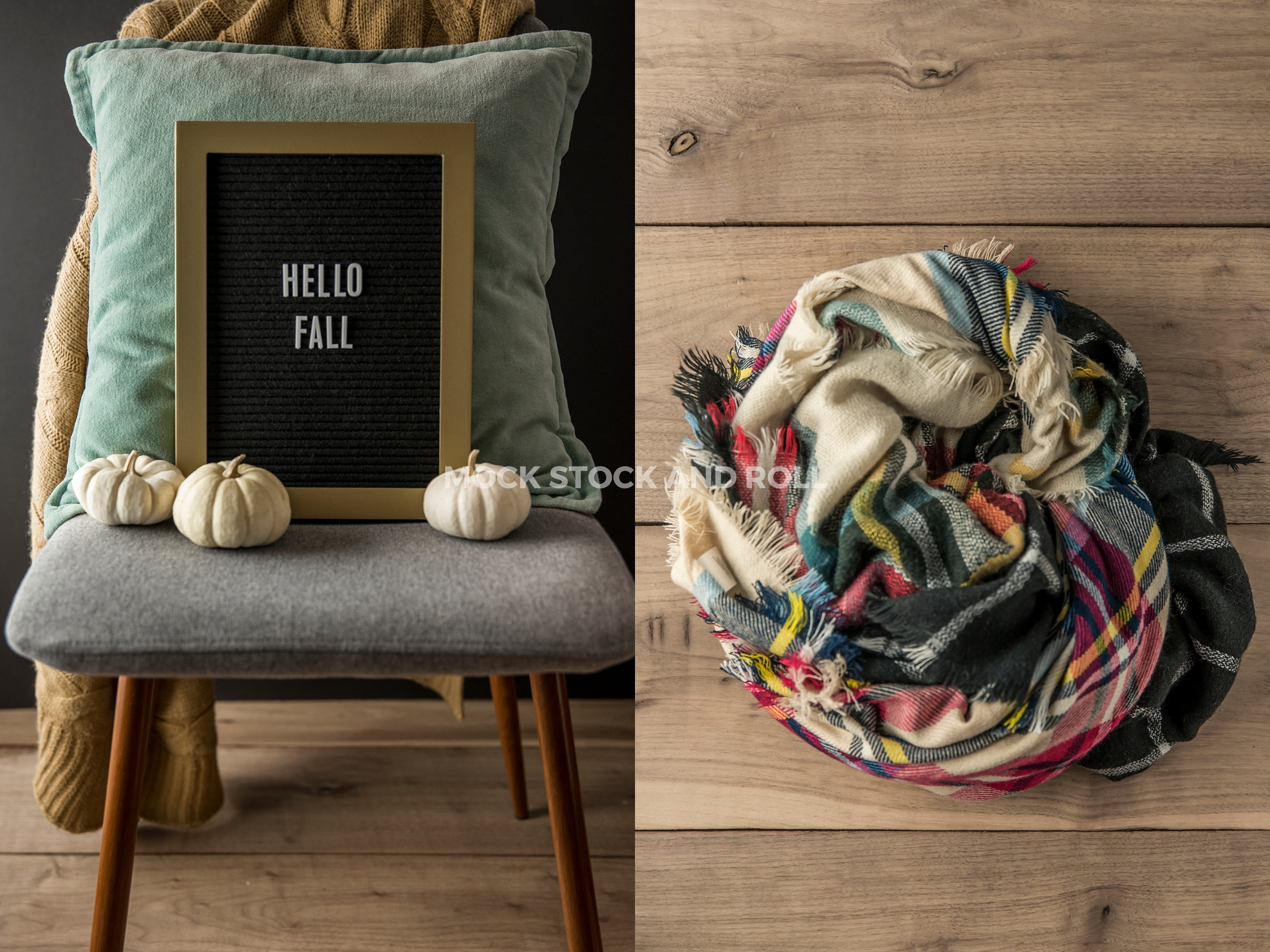 Unique fall styled stock photos from Mock Stock and Roll: Hello Fall and Blanket Scarves
